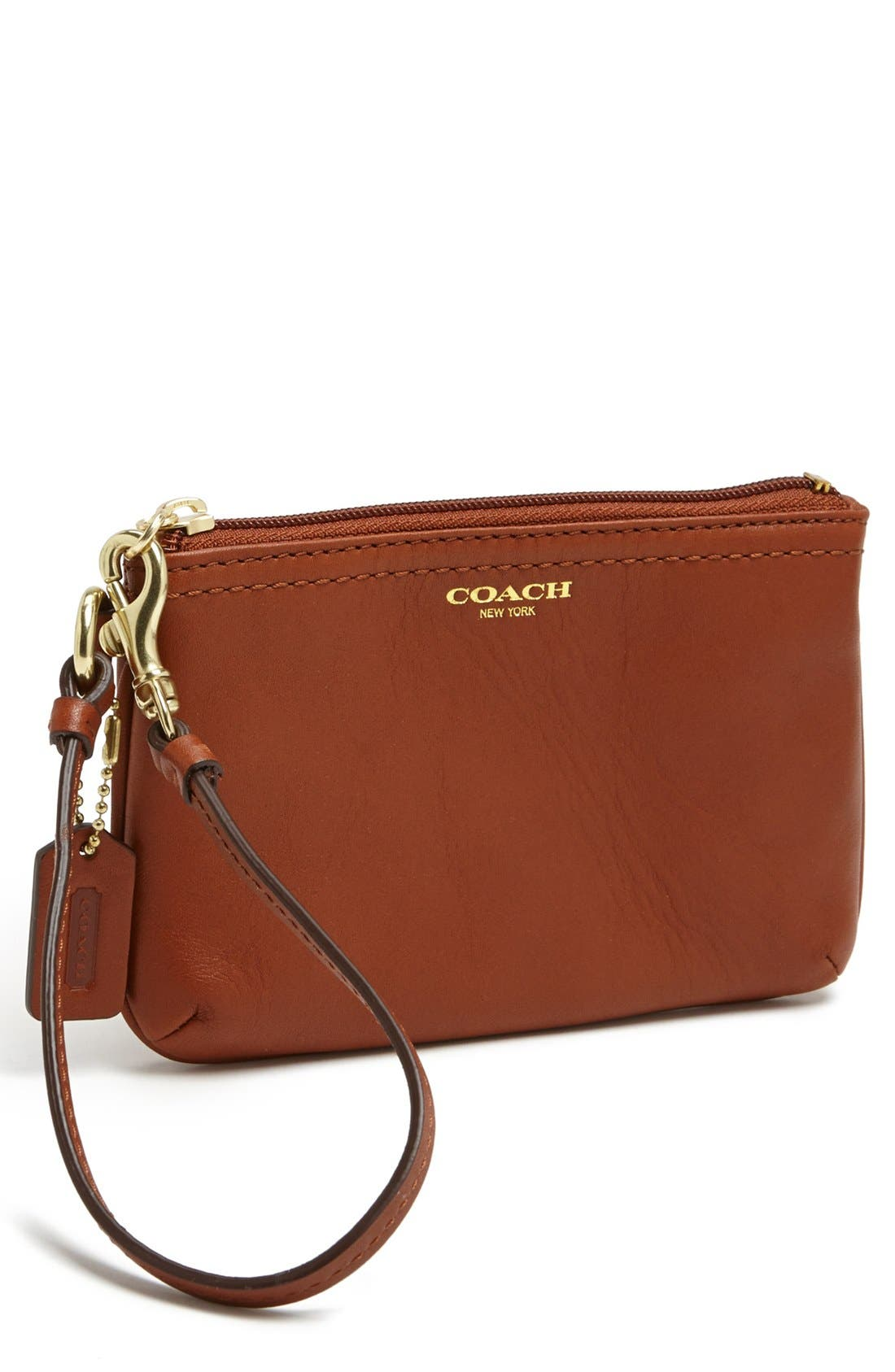 Main Image - COACH 'Small' Leather Wristlet