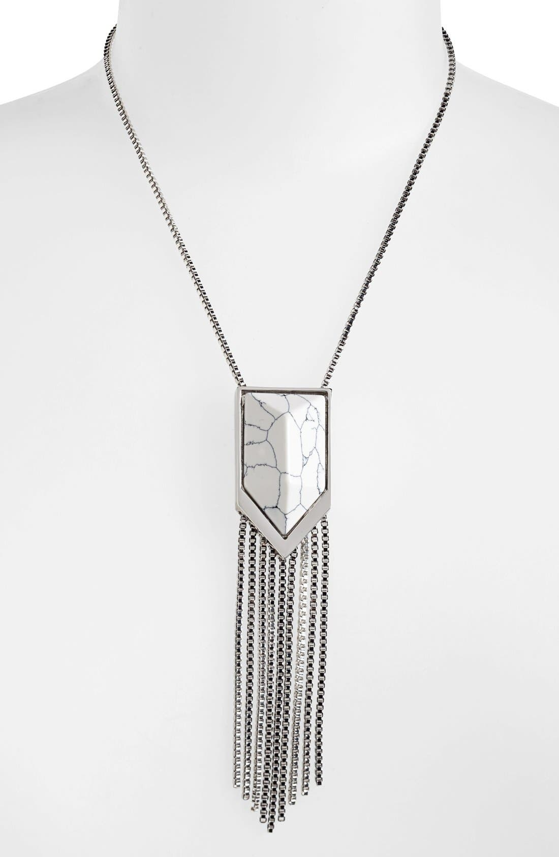 Alternate Image 1 Selected - Vince Camuto 'Clearview' Stone Fringe Pendant Necklace