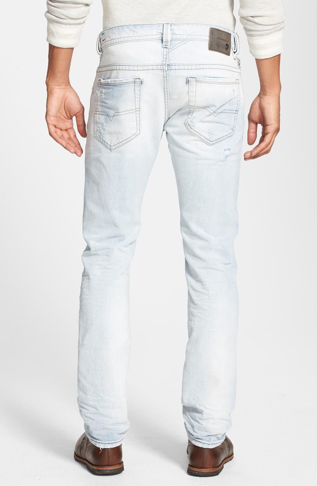 Alternate Image 2  - DIESEL® 'Thavar' Skinny Fit Jeans (0825M)
