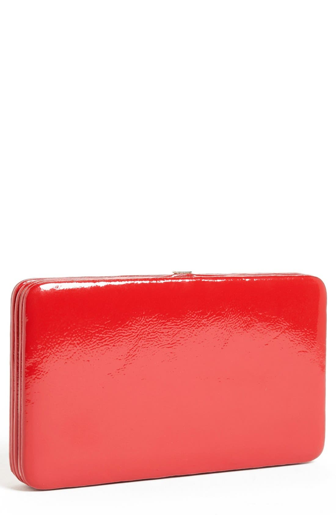 Main Image - Halogen® Patent Leather Frame Clutch