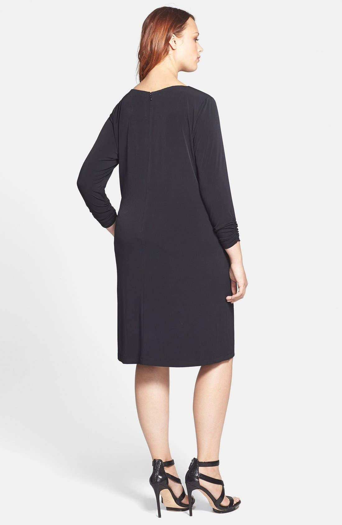 Alternate Image 2  - Tahari by ASL Chain Necklace Detail Jersey Dress (Plus)
