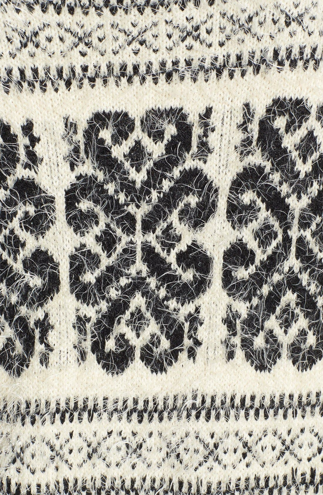Alternate Image 3  - Dex Patterned Fuzzy High/Low Sweater