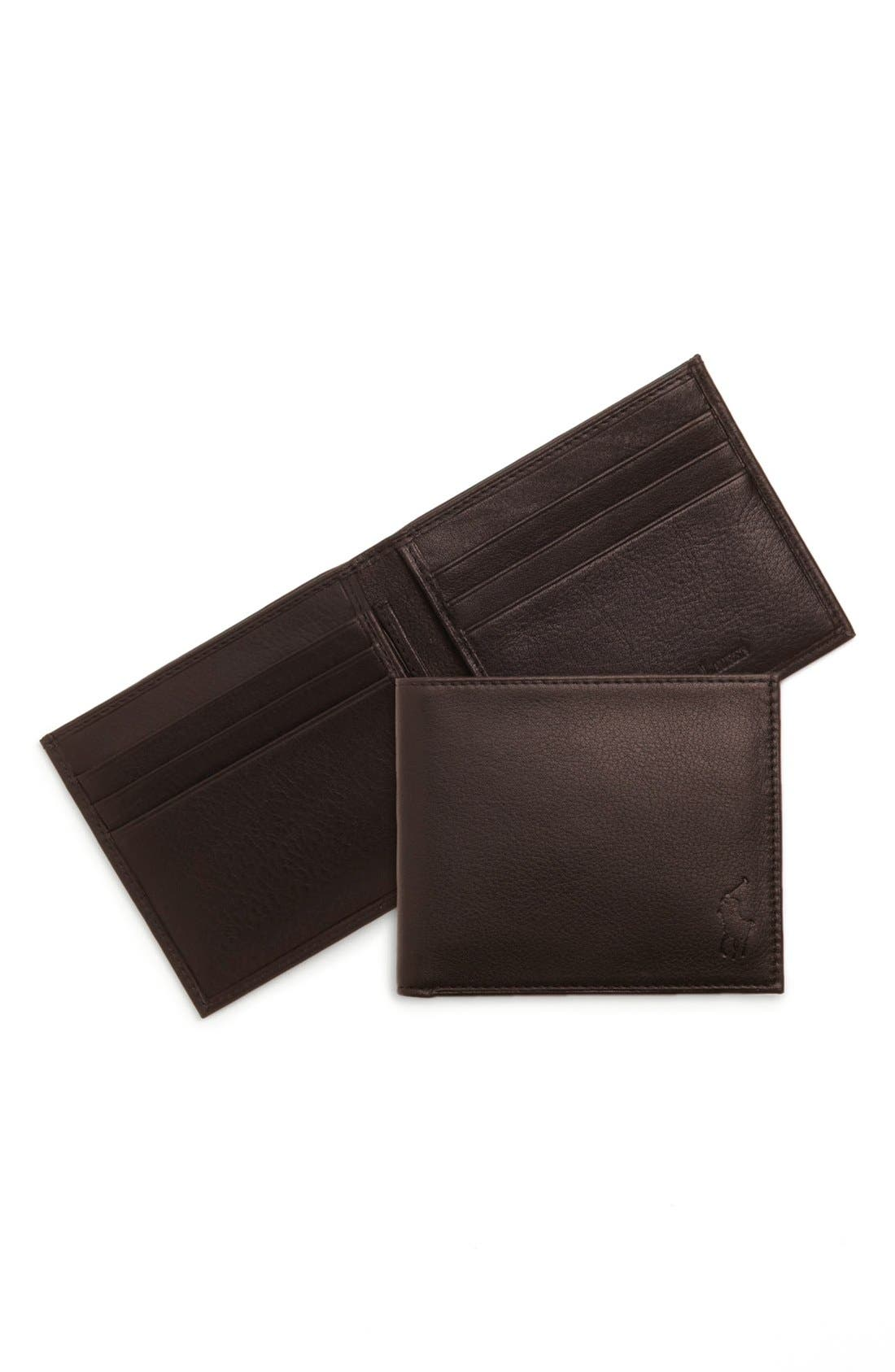 Alternate Image 1 Selected - Polo Ralph Lauren Bifold Wallet