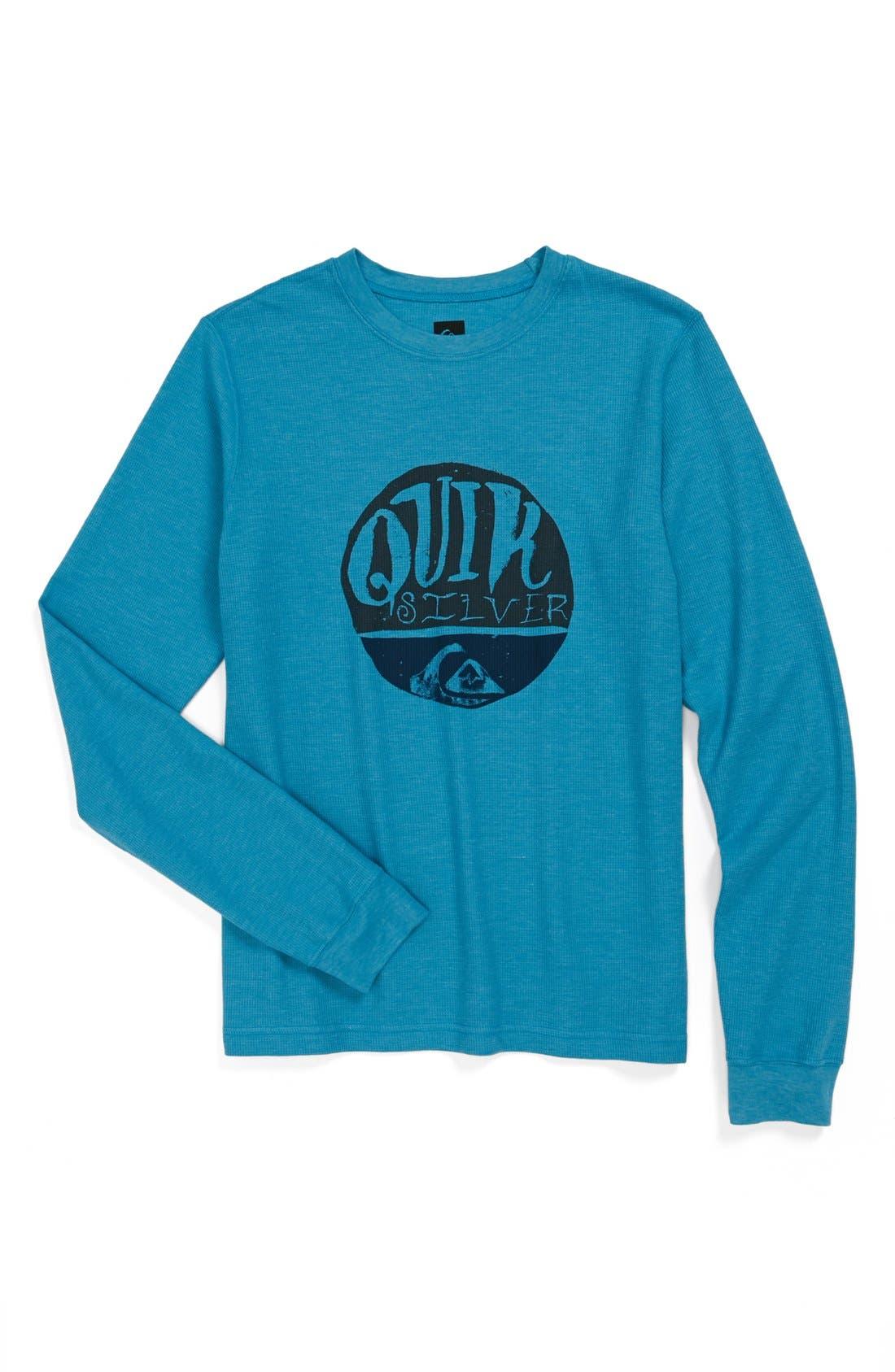 Alternate Image 1 Selected - Quiksilver 'Sunrise' Long Sleeve Thermal Shirt (Big Boys)