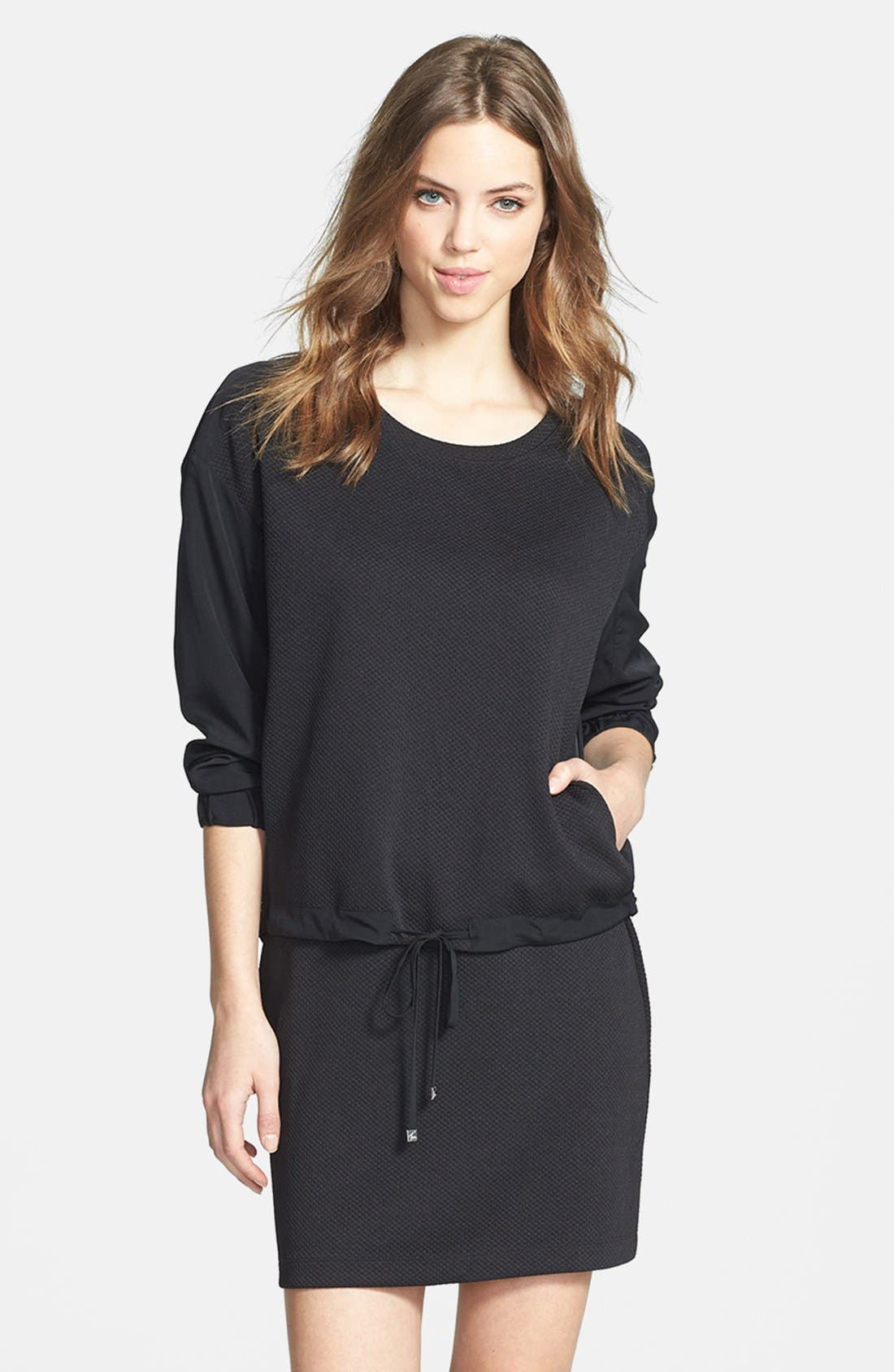 Alternate Image 1 Selected - Two by Vince Camuto 'Tech' Waffle Knit Sweatshirt