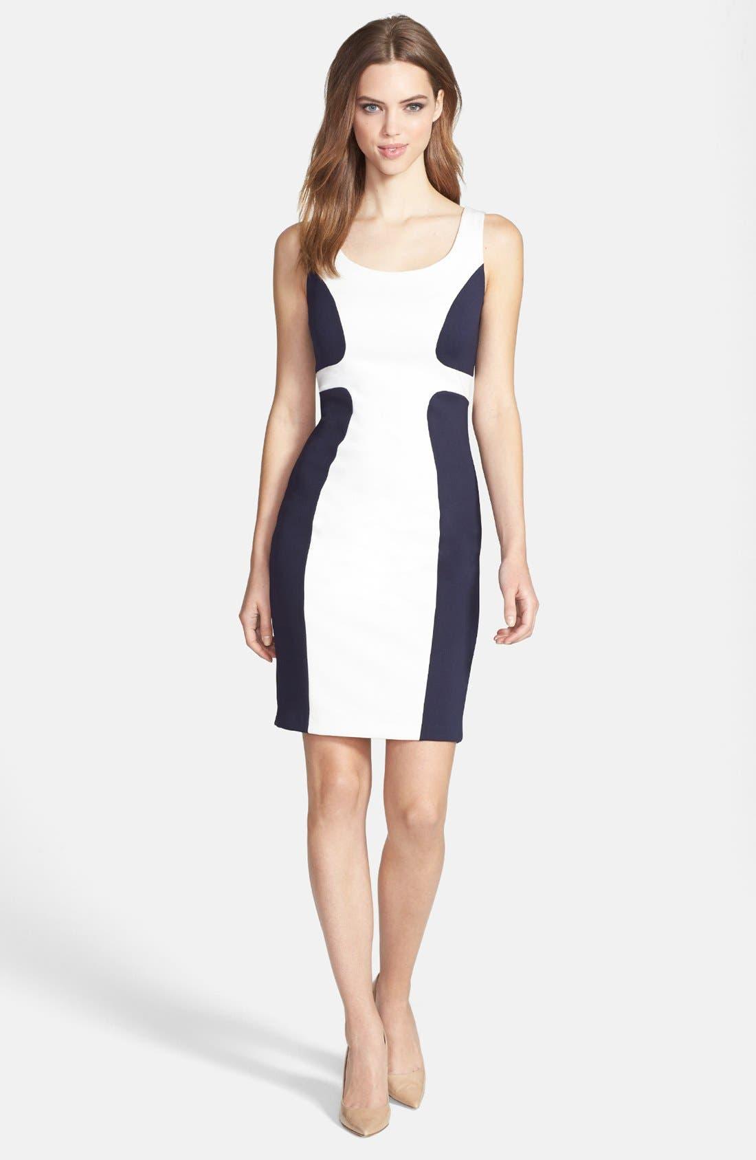 Main Image - JAX Colorblock Scuba Dress