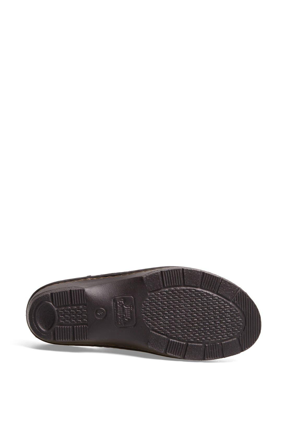 'Tilburg' Leather Sandal,                             Alternate thumbnail 4, color,                             Black