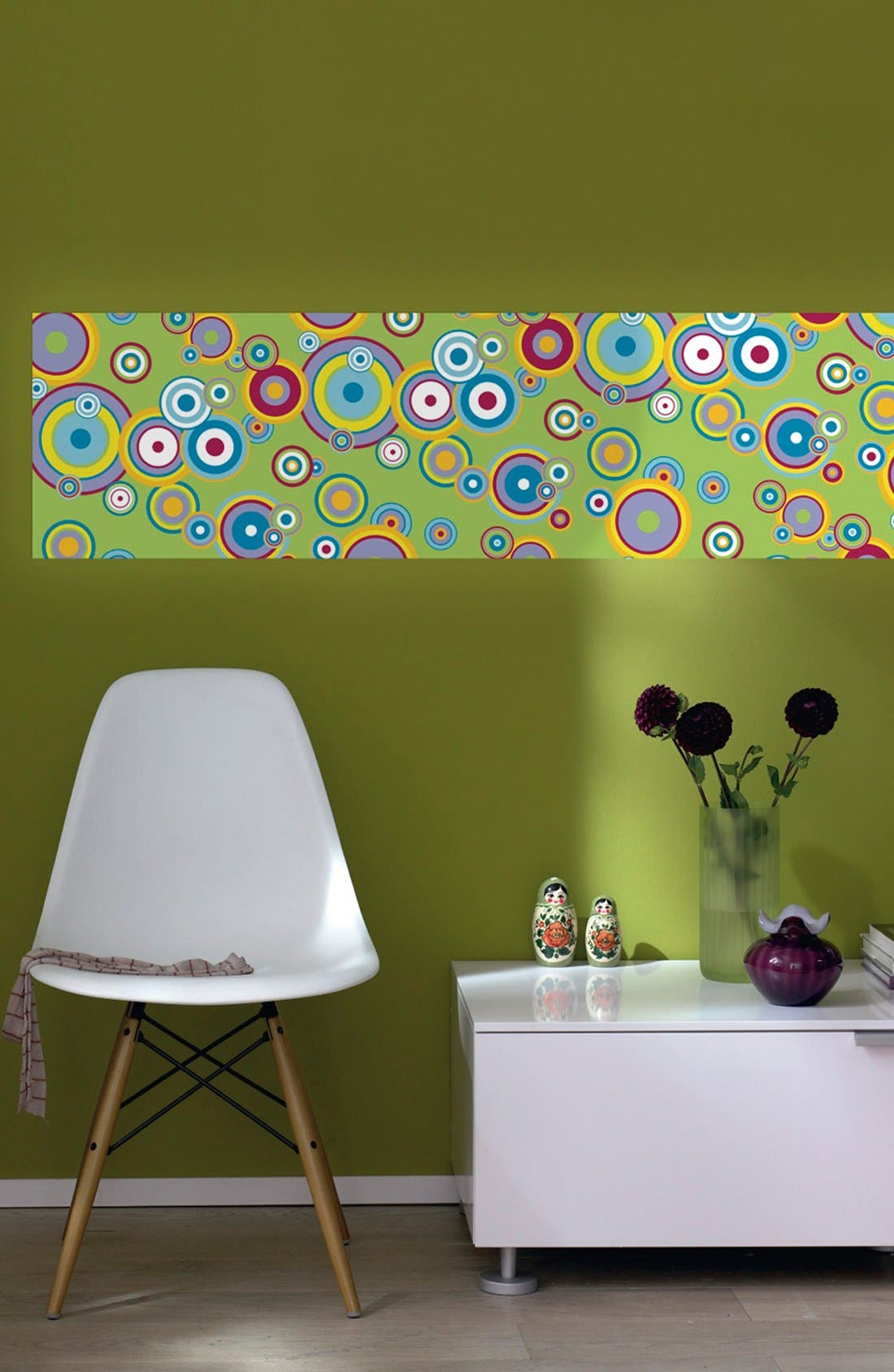 Alternate Image 1 Selected - Wallpops 'Flying Bubbles Mint' Wall Art