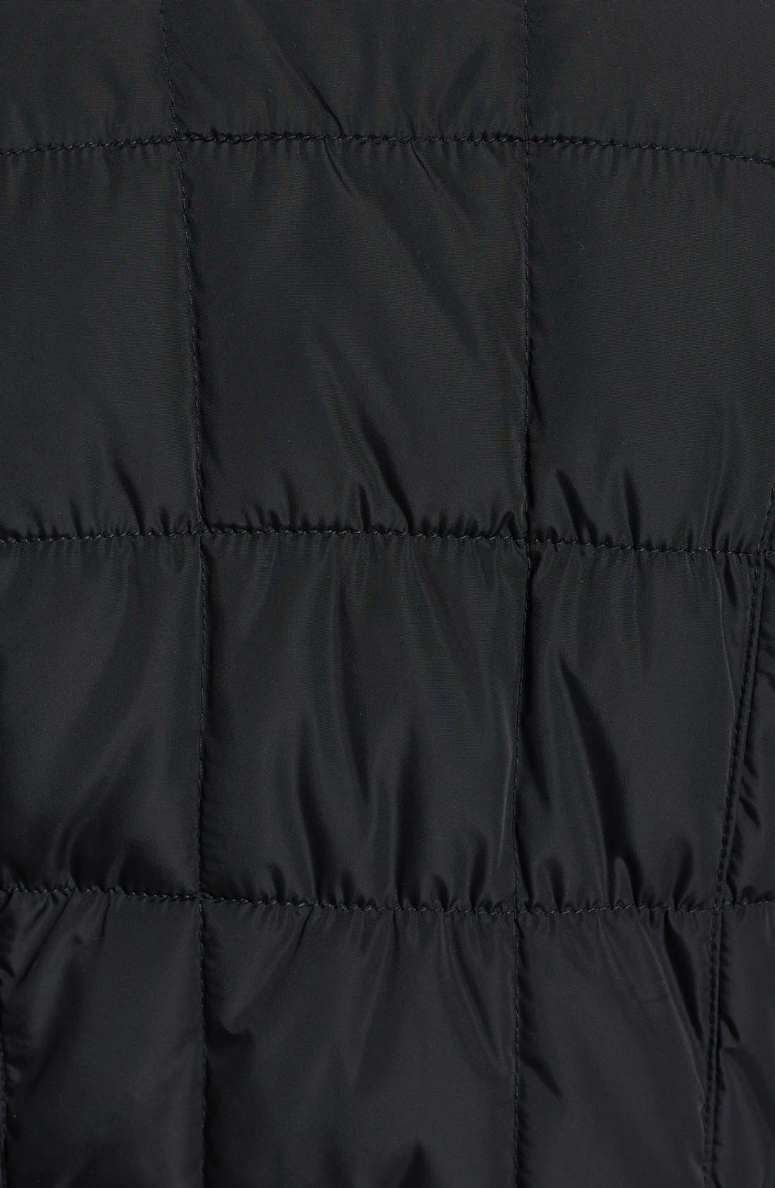 Asymmetrical Quilted Jacket,                             Alternate thumbnail 3, color,                             Black