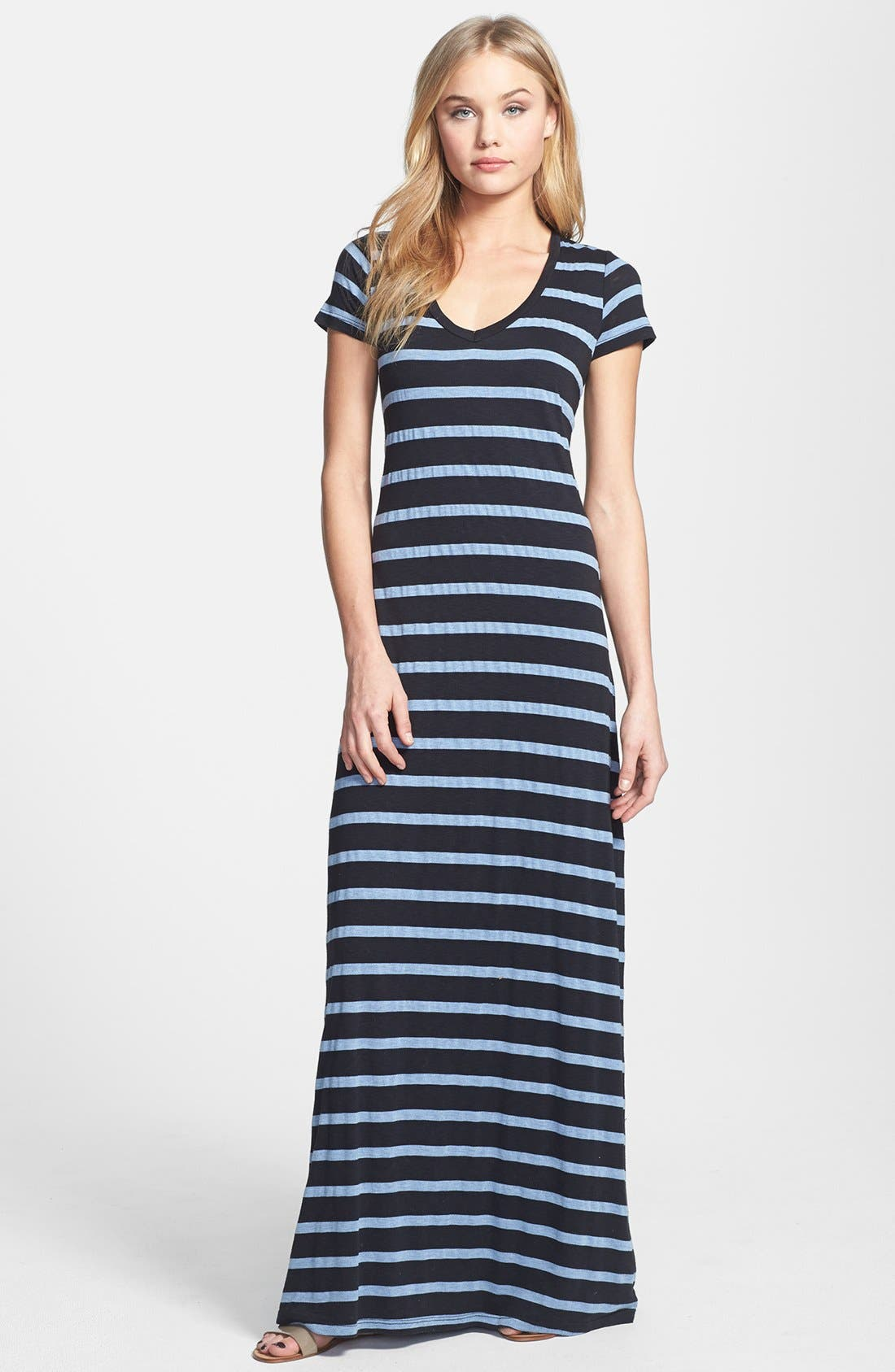 Main Image - Splendid Stripe V-Neck Maxi Dress