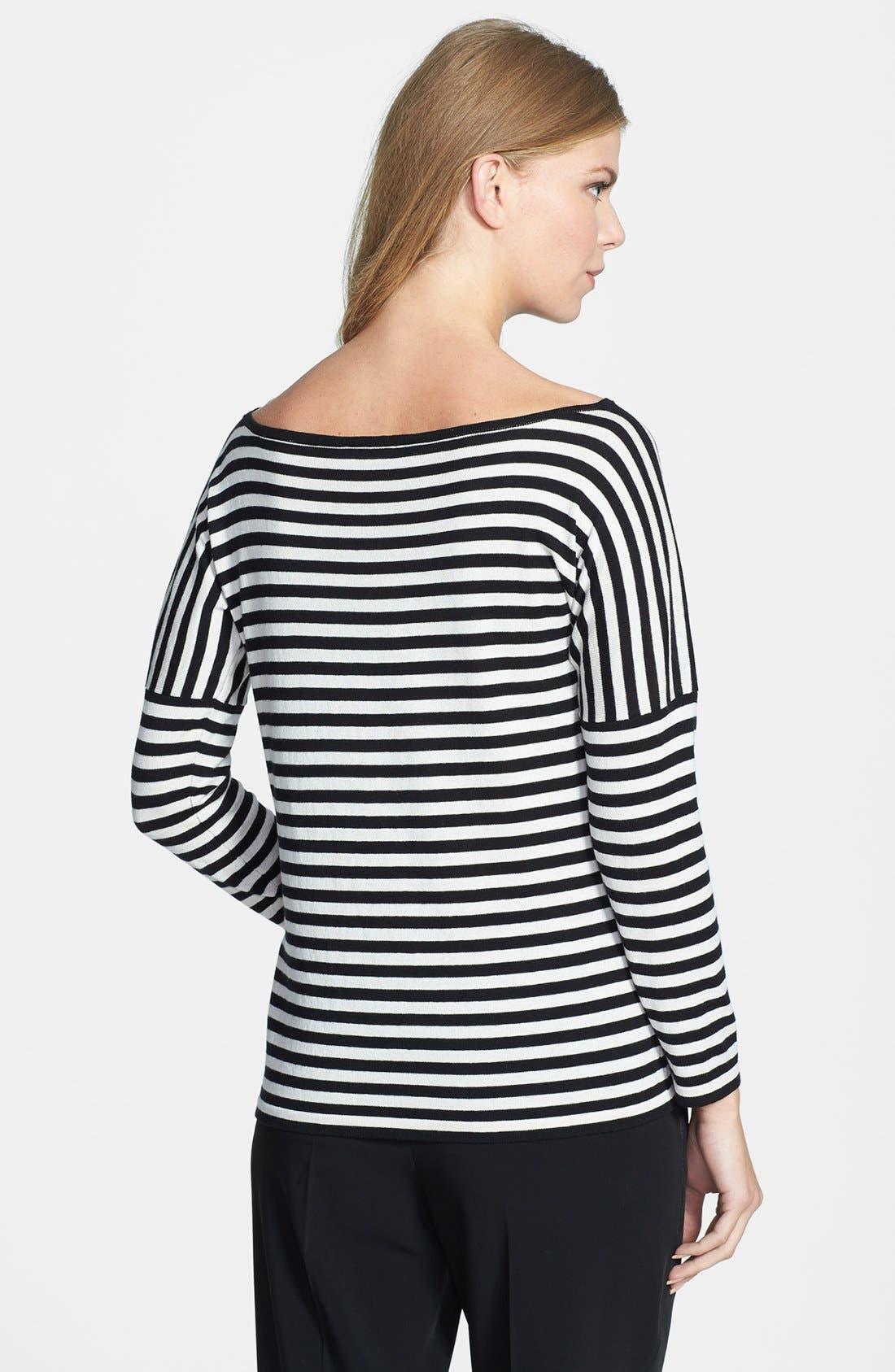 Alternate Image 2  - Weekend Max Mara 'Bambo' Stripe Silk & Cotton Sweater