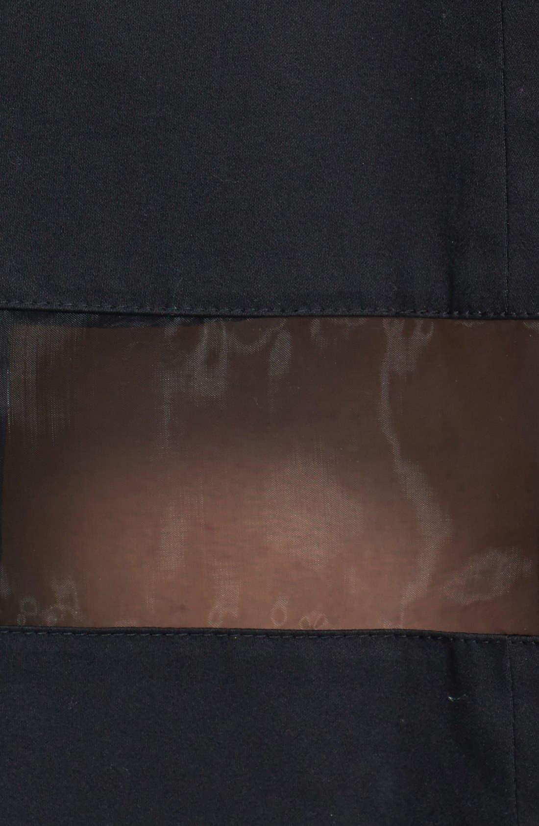 Alternate Image 3  - Vince Camuto Sheer Inset Pleated Skirt