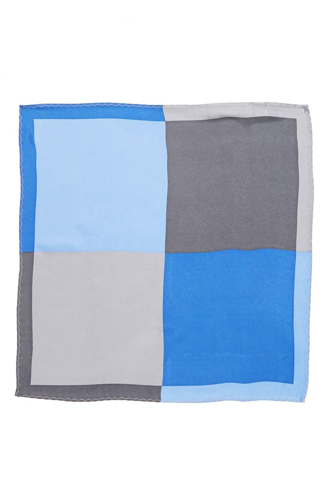 Main Image - Original Penguin 'Cam Colorblock' Silk Pocket Square