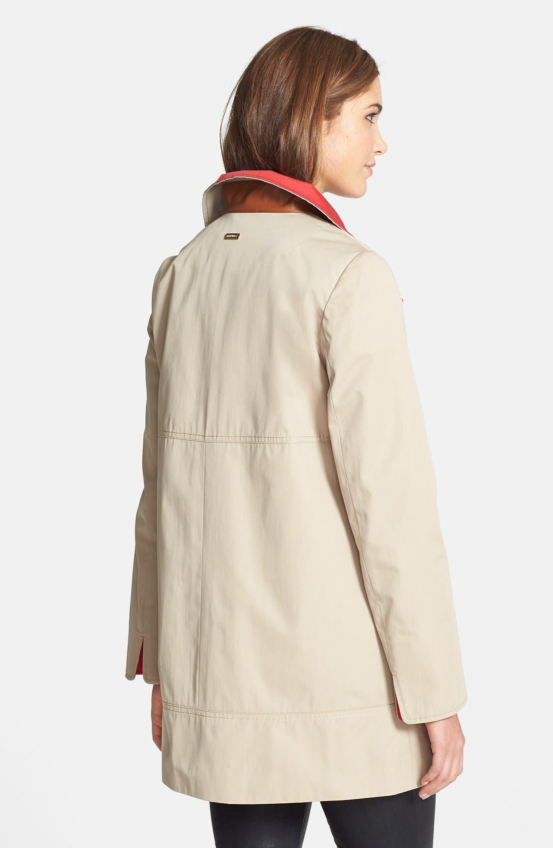 Alternate Image 2  - Ellen Tracy Contrast Lined A-Line Raincoat (Online Only)