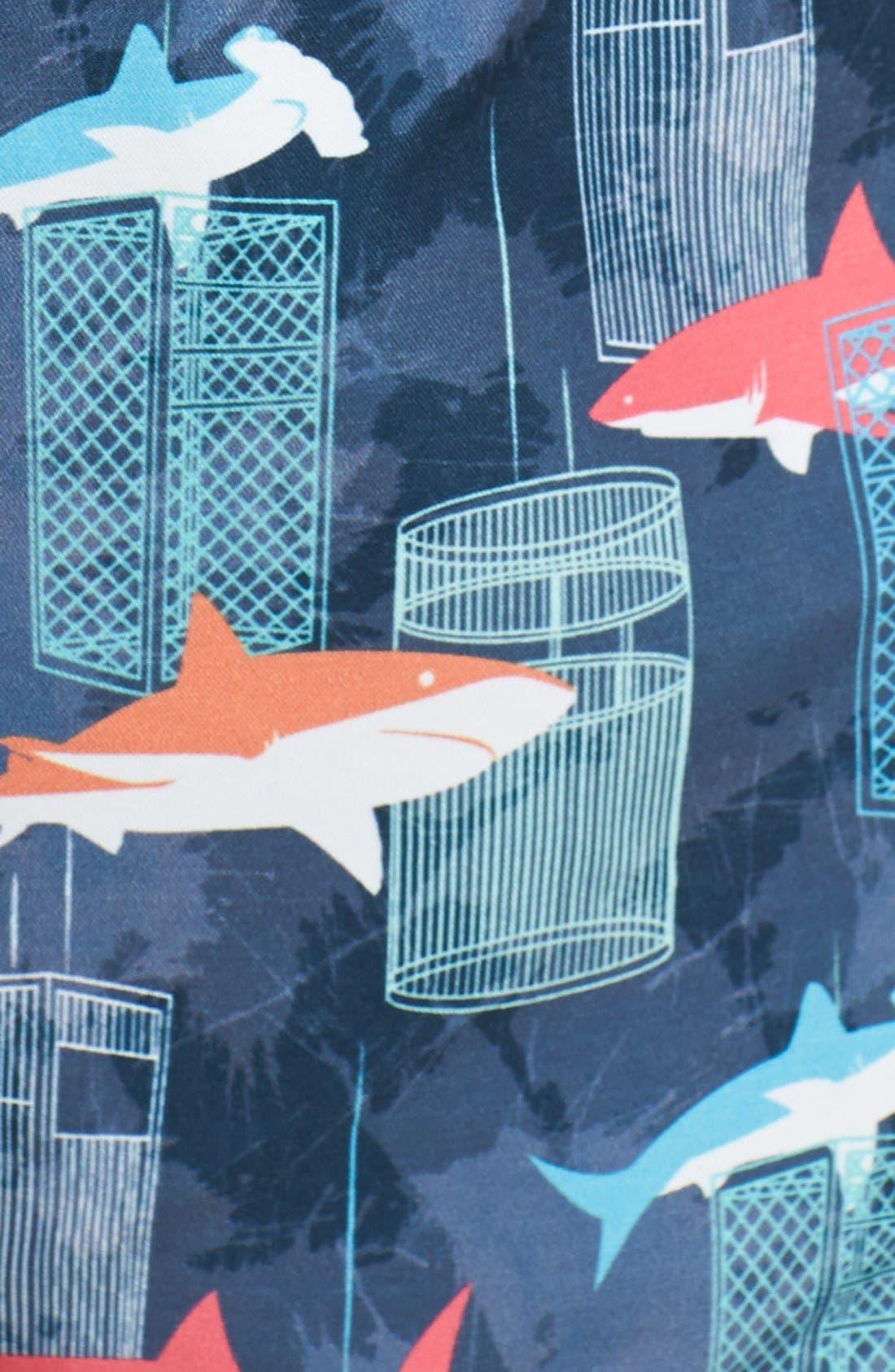 Alternate Image 3  - Michael's Swimwear 'Shark Tank' Swim Trunks