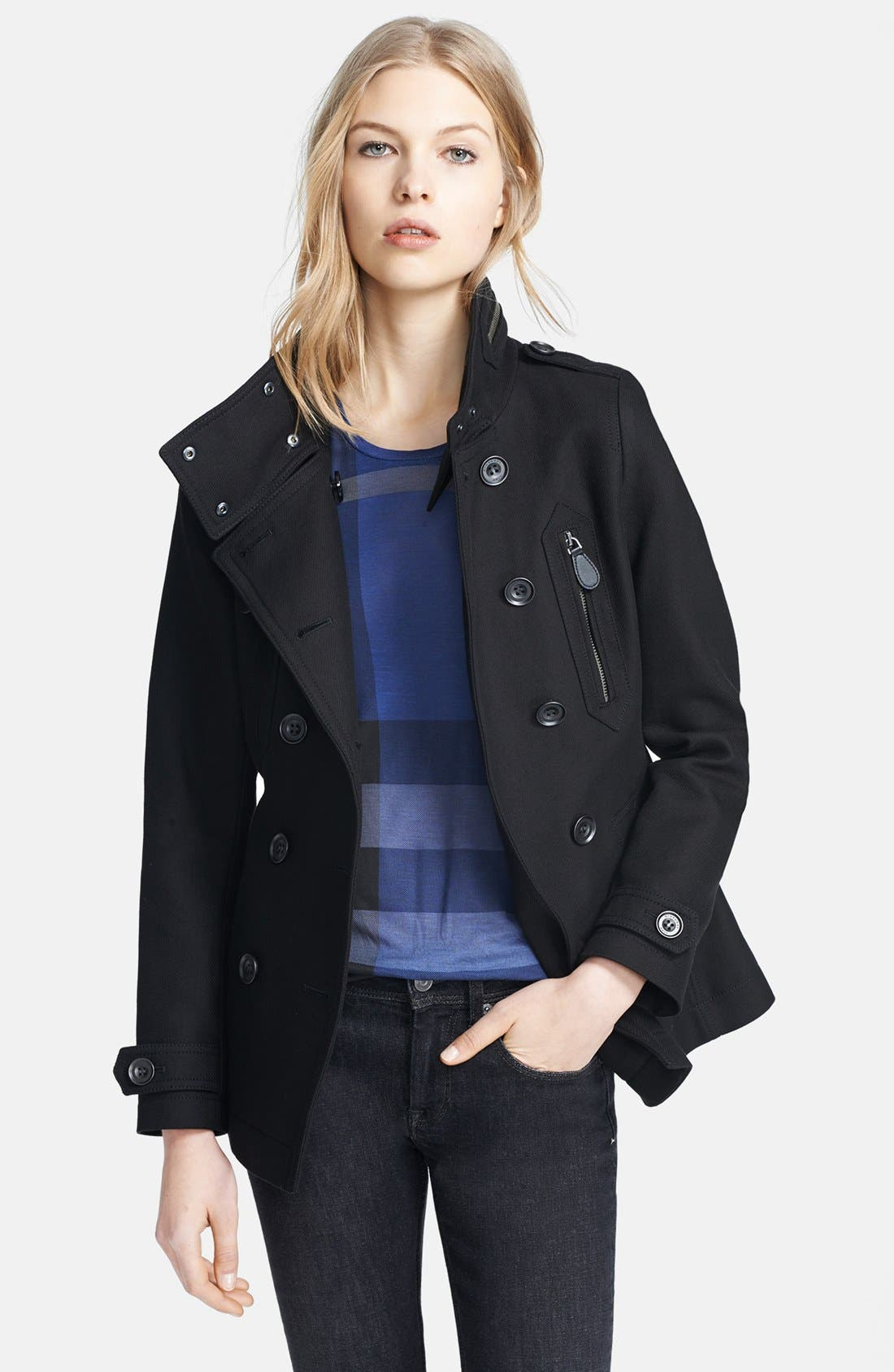 Alternate Image 4  - Burberry Brit 'Wilford' Double Breasted Trench Coat