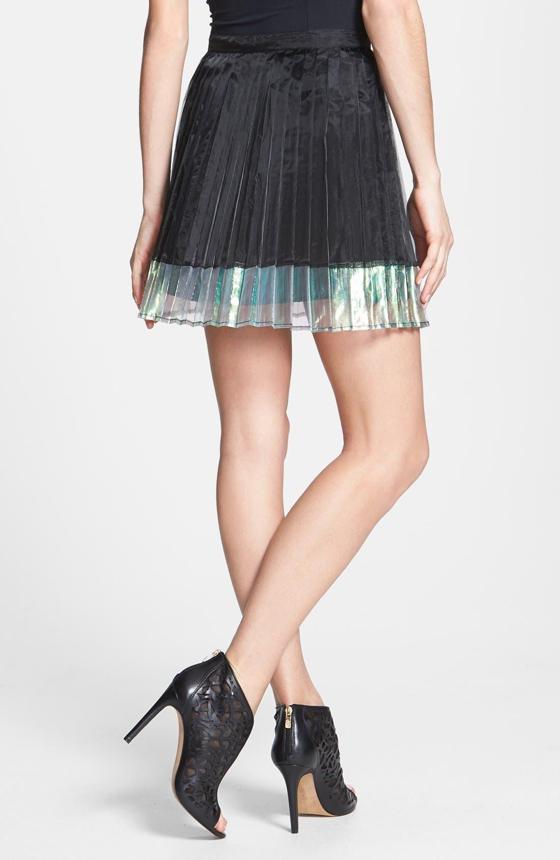 Alternate Image 2  - MINKPINK 'Mother of Pearl' Knife Pleat Skirt
