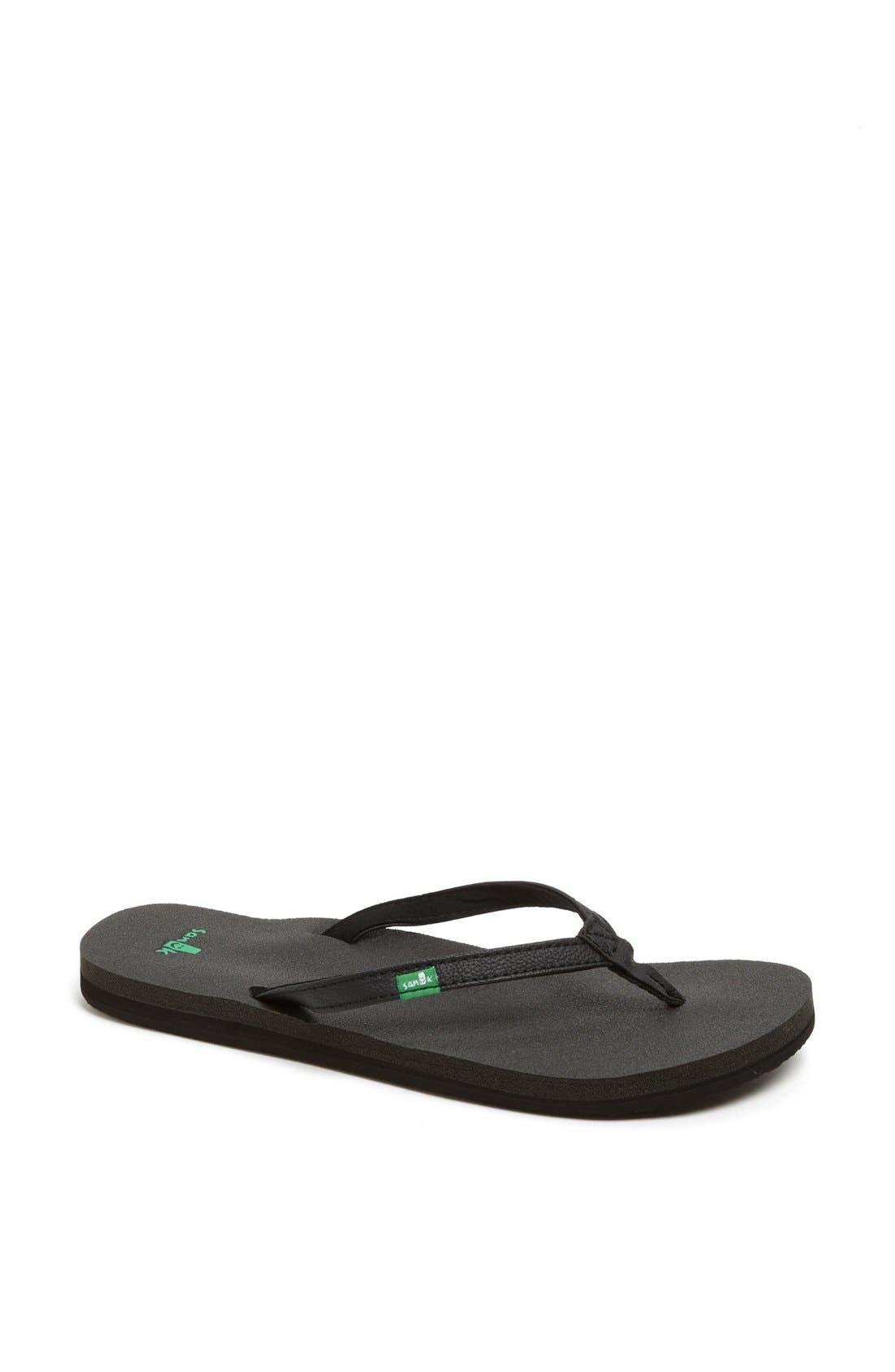 Sanuk 'Yoga Joy' Flip Flop (Women) (Regular Retail Price: $29.95)