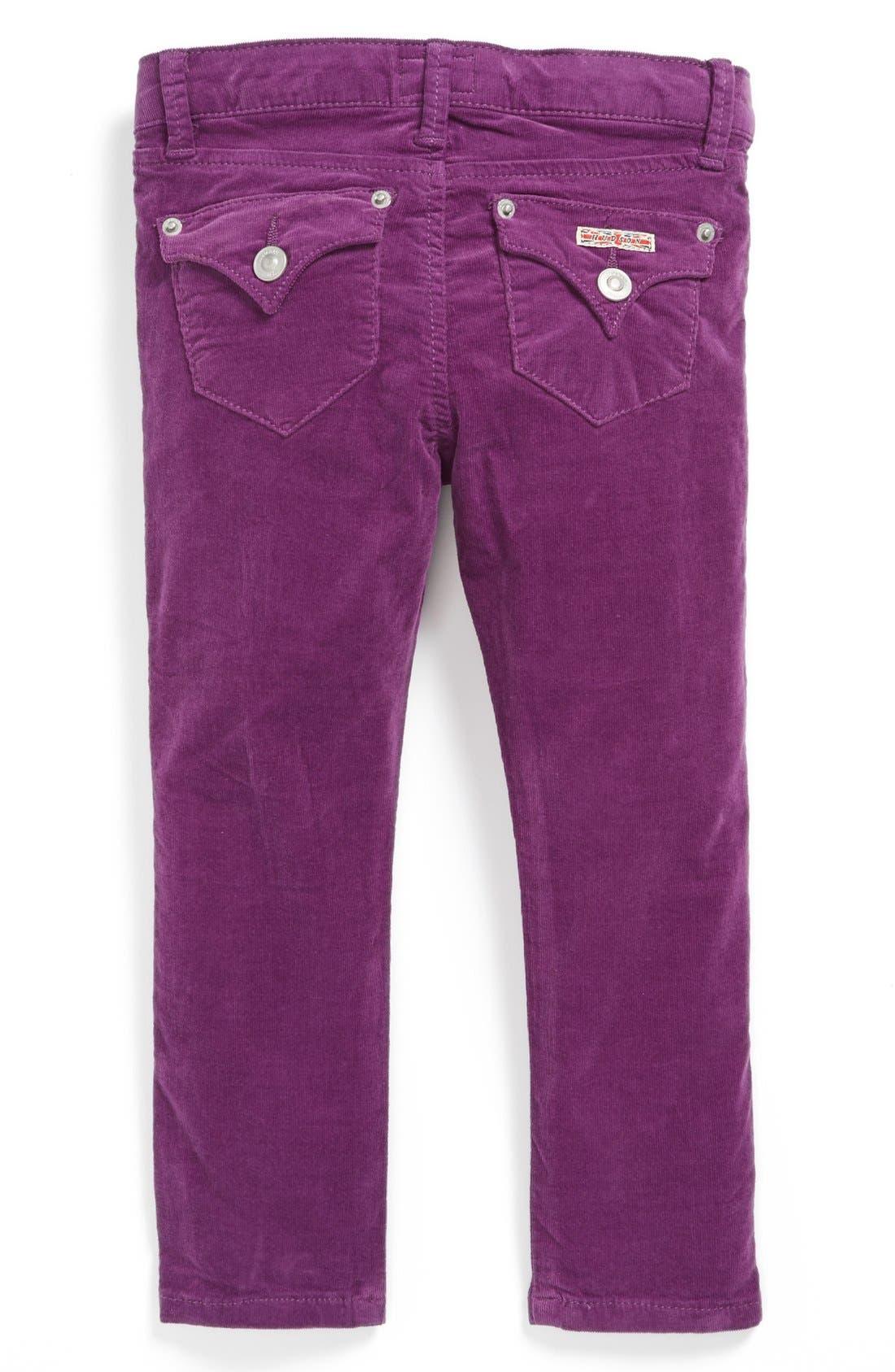 Alternate Image 1 Selected - Hudson Kids Corduroy Skinny Jeans (Toddler Girls)