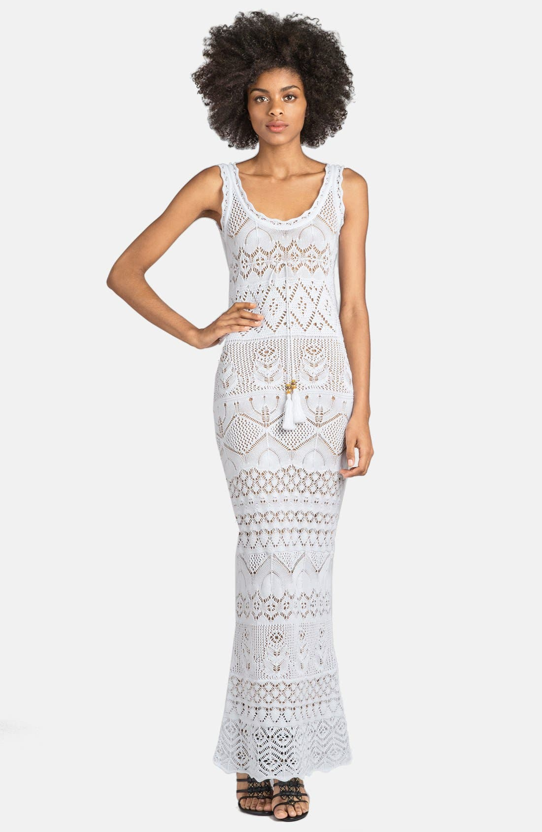 Alternate Image 1 Selected - Emilio Pucci Long Crocheted Gown