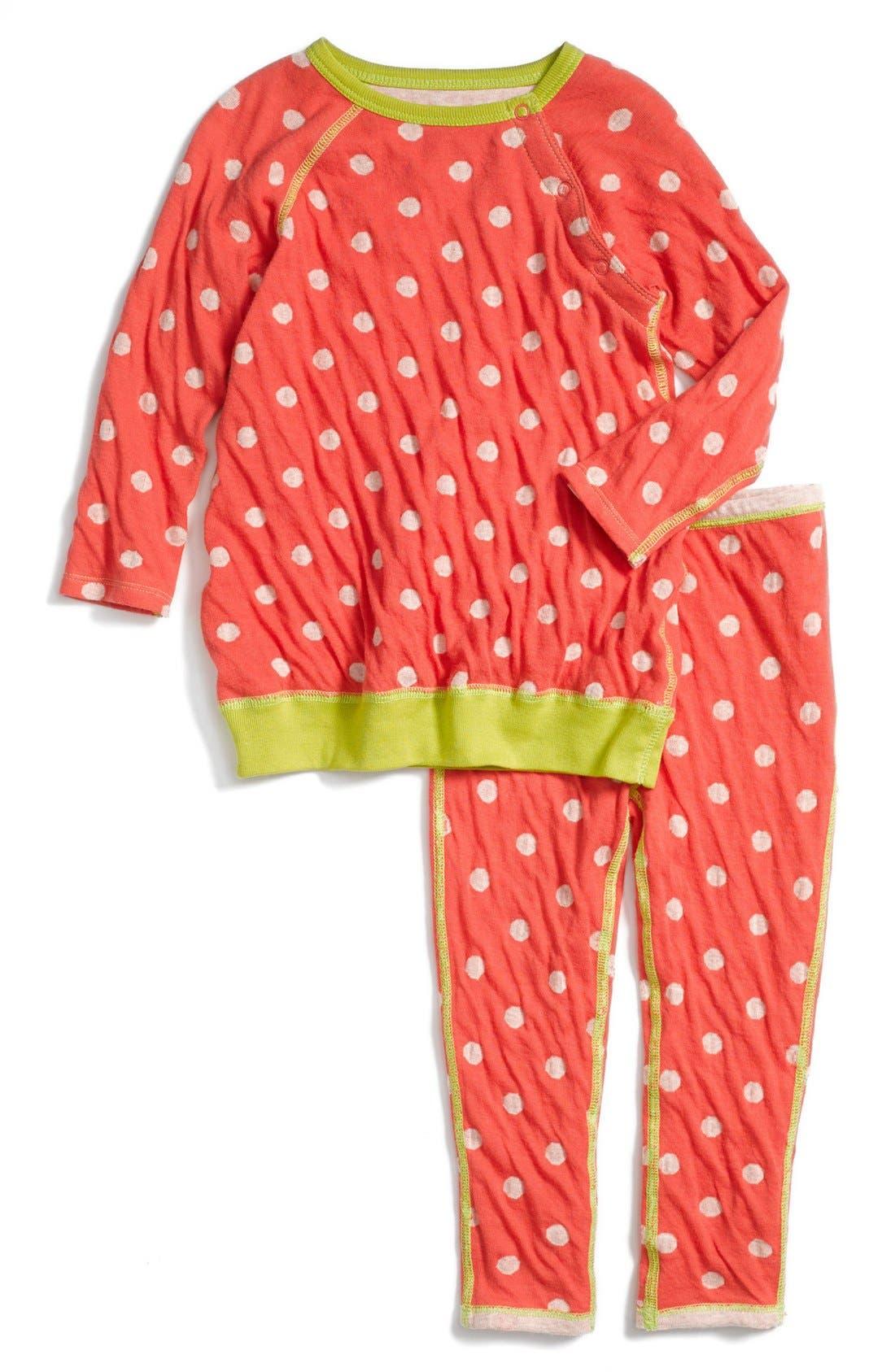 Main Image - Stem Baby Reversible Organic Cotton Sweatshirt & Pants Set (Baby)