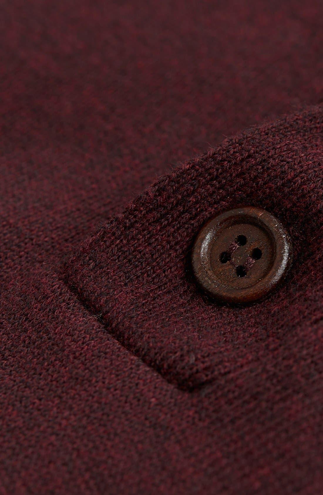 Alternate Image 3  - Topman Shawl Collar Sweater