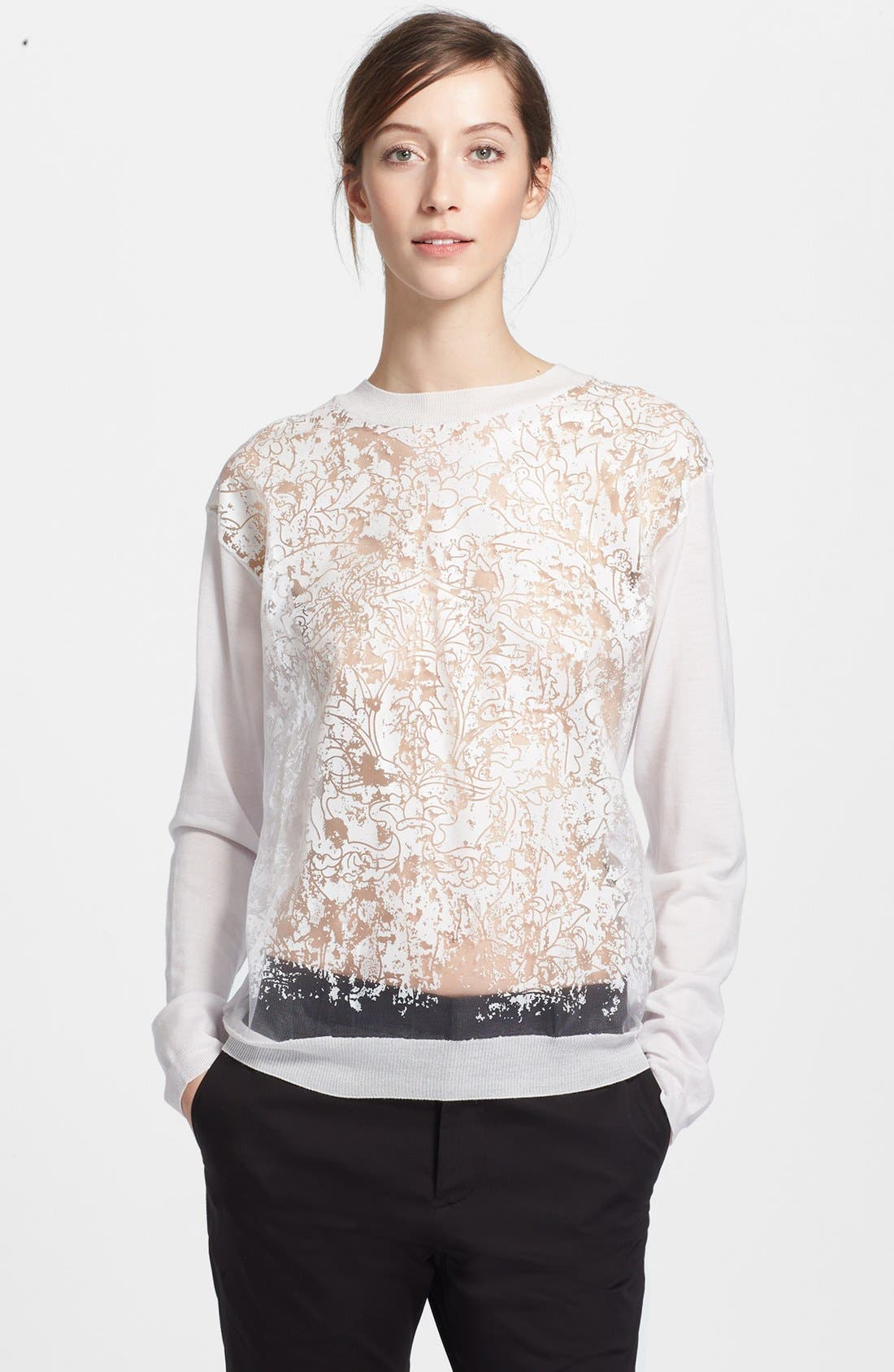 Alternate Image 1 Selected - Jil Sander Burnout Sweater