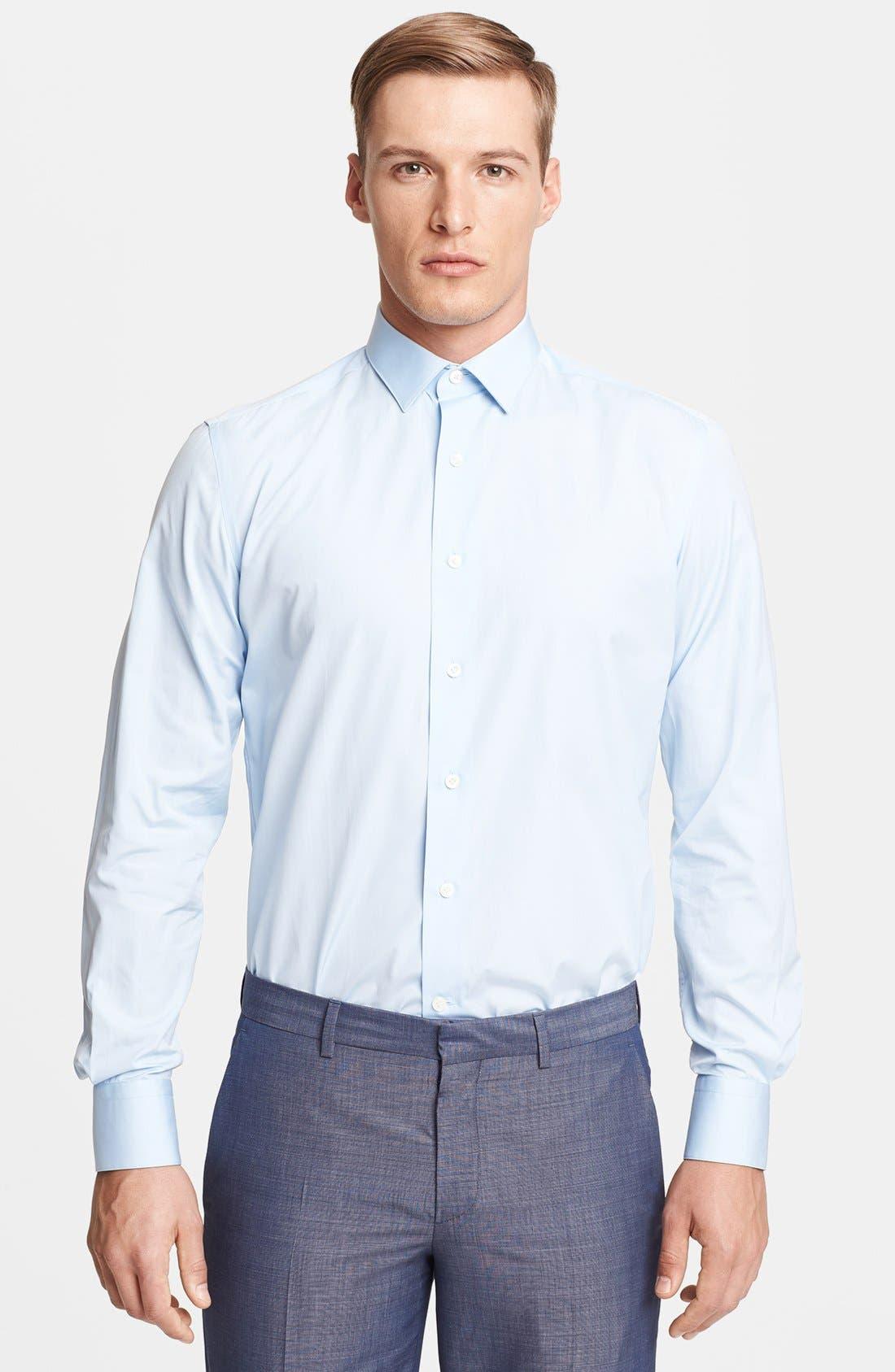 Main Image - Lanvin Slim Fit Poplin Dress Shirt