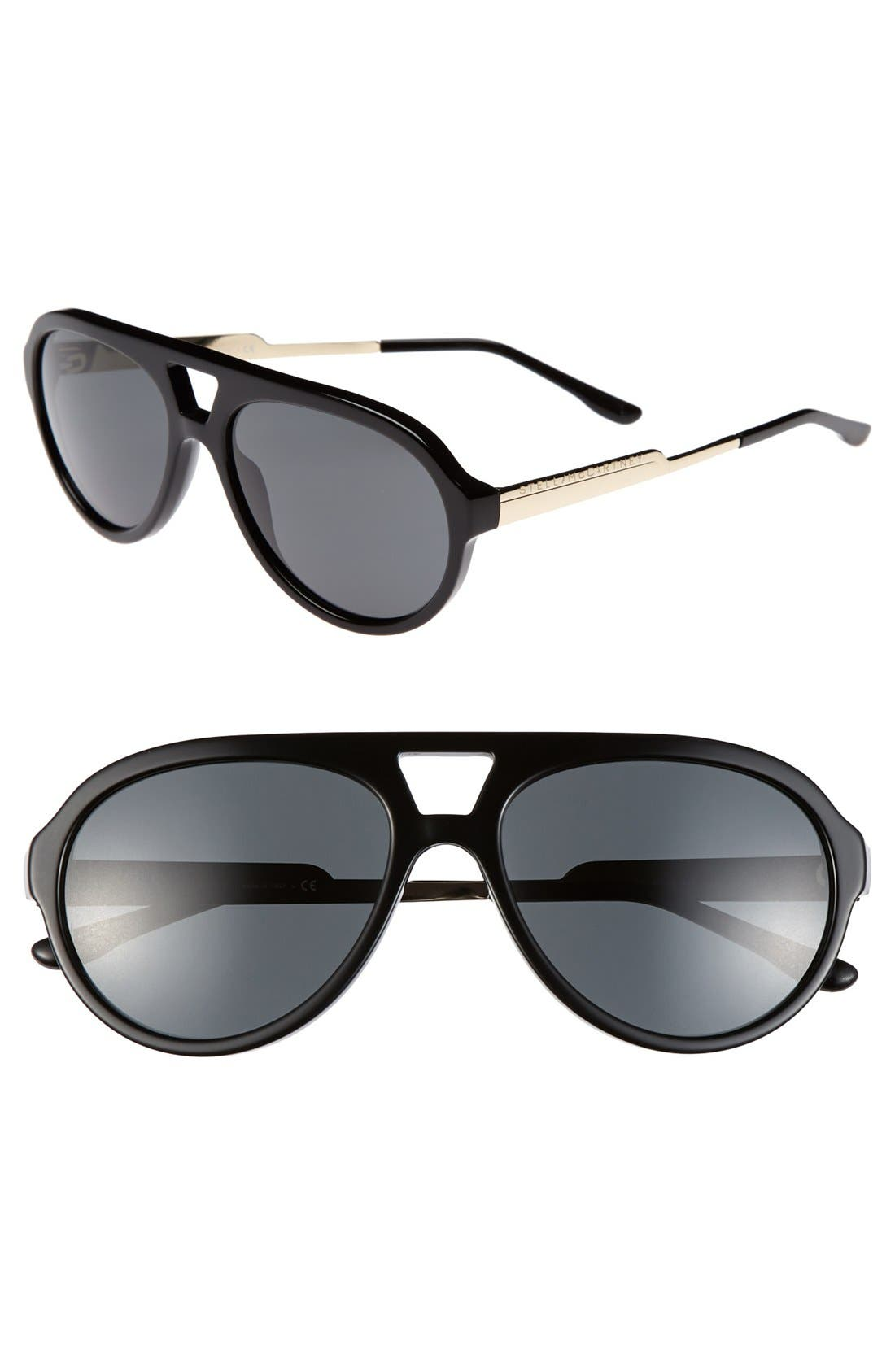 Main Image - Stella McCartney 57mm Aviator Sunglasses