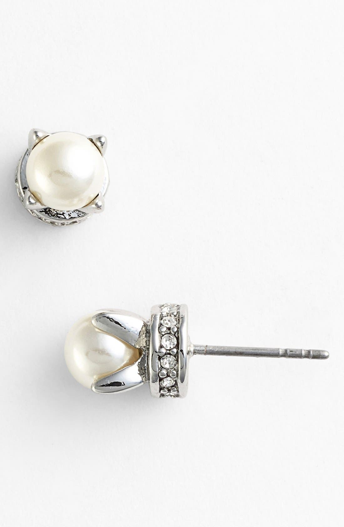 Alternate Image 1 Selected - Rebecca Minkoff 'Curbs' Faux Pearl Stud Earrings