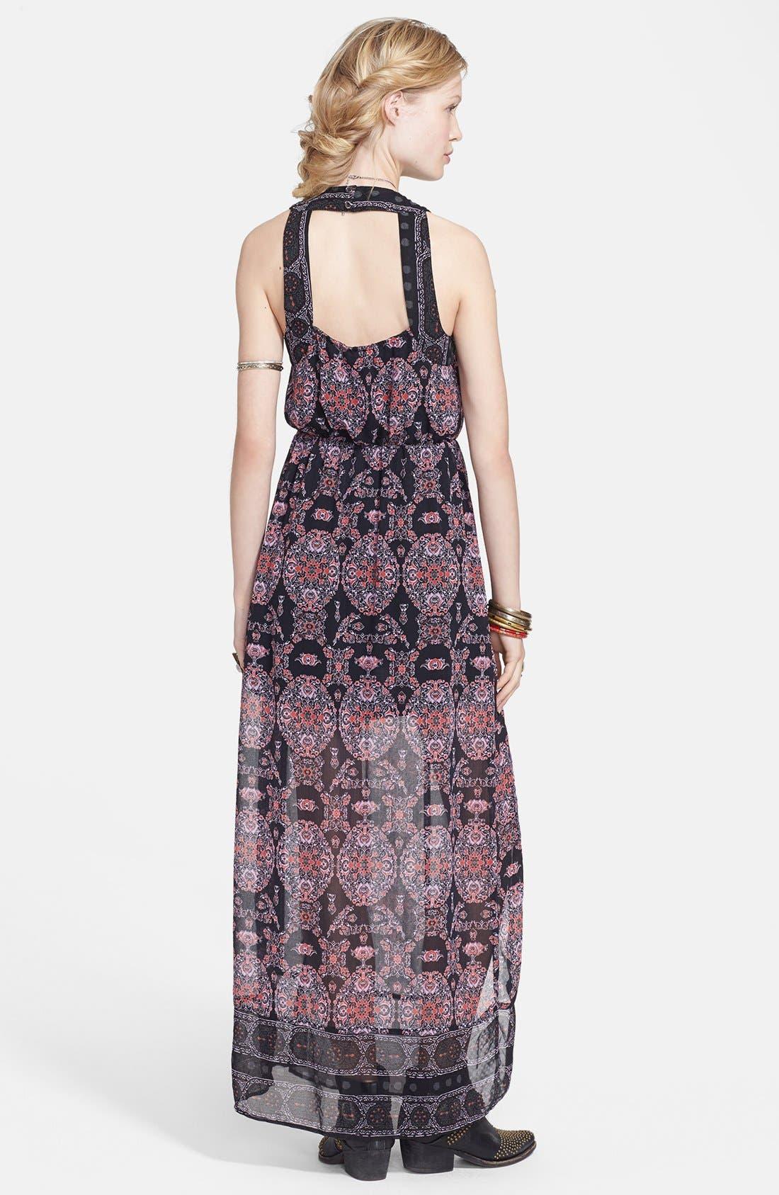 Alternate Image 2  - Free People Print Chiffon Maxi Dress