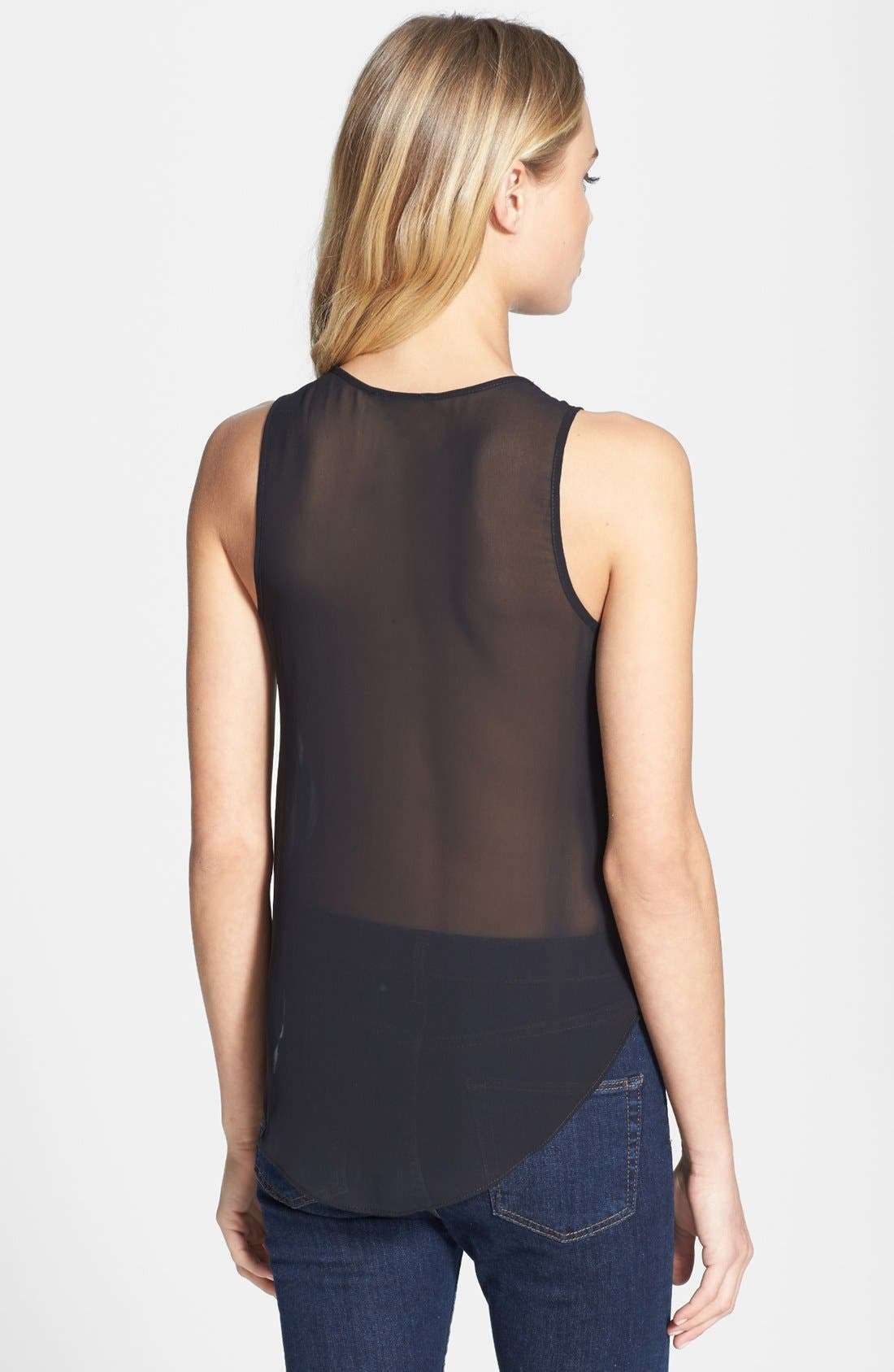 Alternate Image 2  - Topshop Zip V-Neck Sleeveless Top