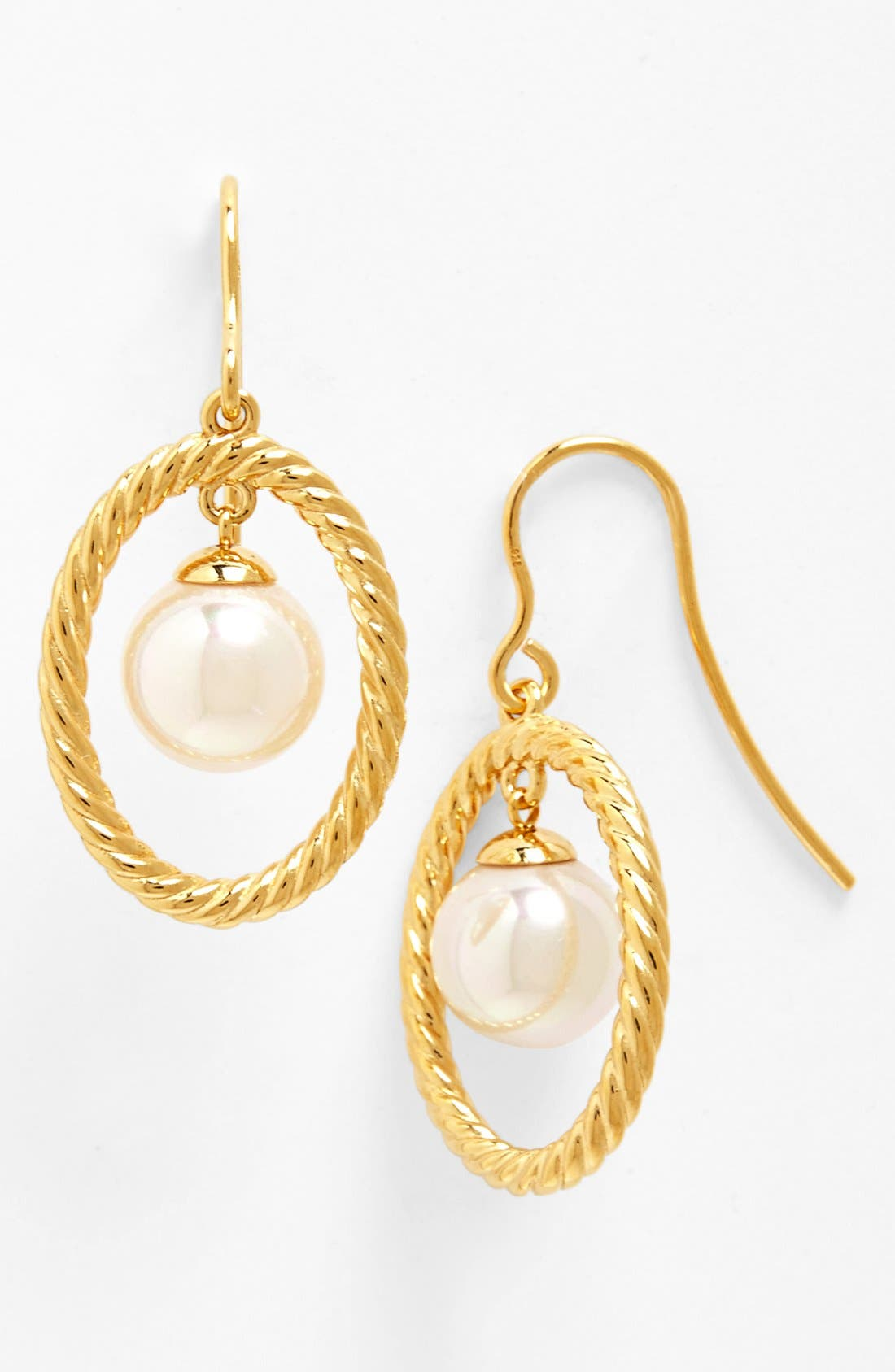 Main Image - Majorica 10mm Pearl Drop Earrings