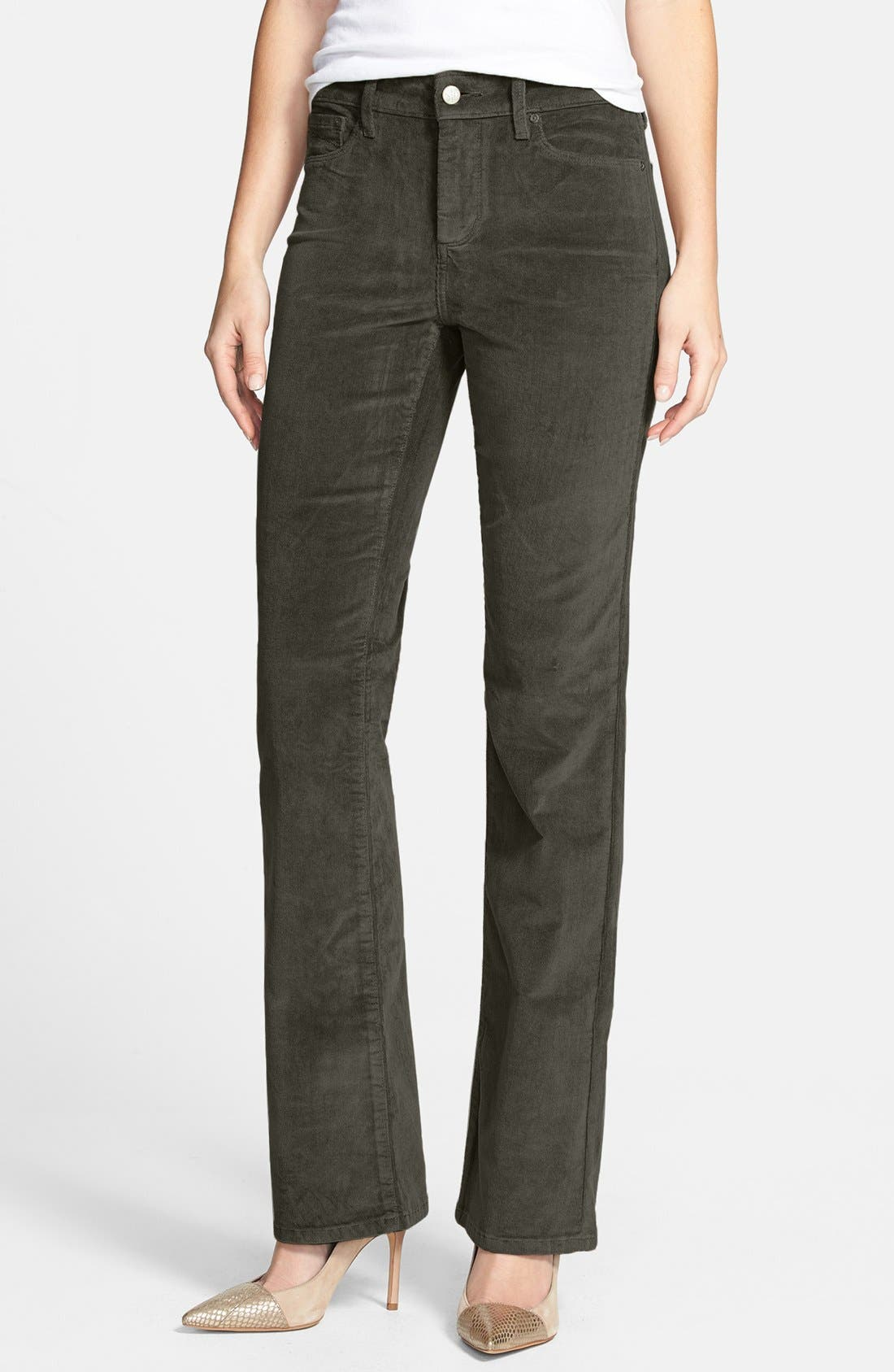 Alternate Image 1 Selected - NYDJ 'Barbara' Colored Stretch Corduroy Bootcut Pants (Regular & Petite)