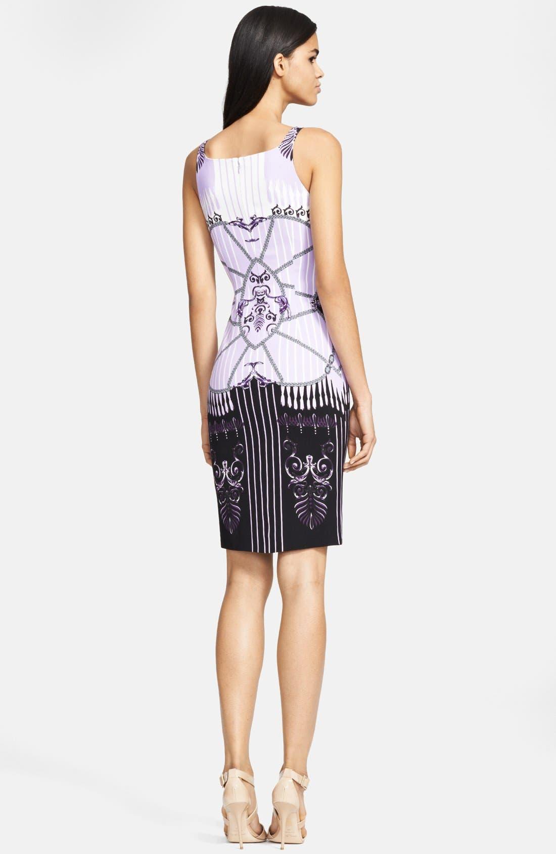 Alternate Image 2  - Versace Collection Print Sheath Dress