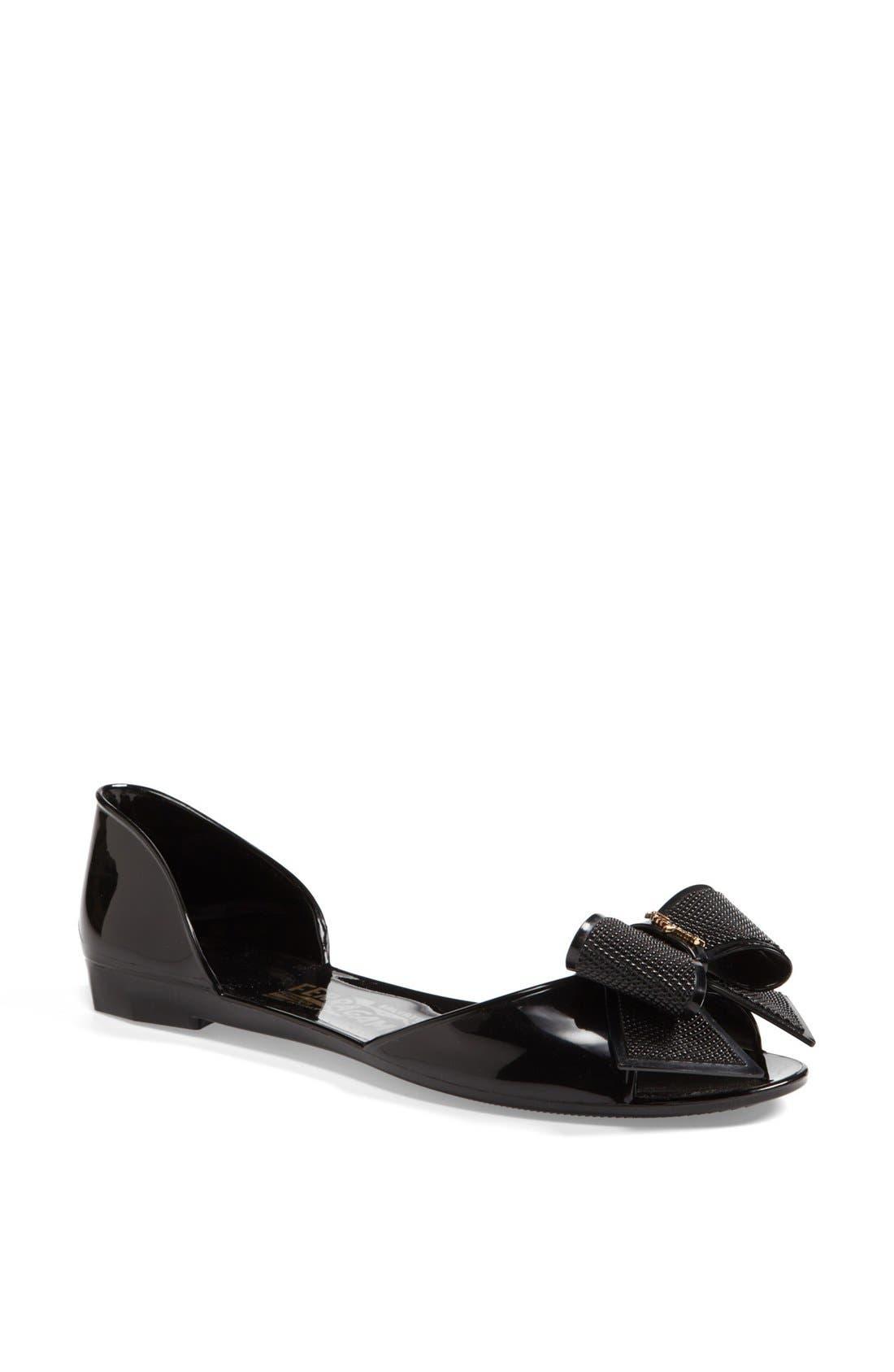 Alternate Image 1 Selected - Salvatore Ferragamo 'Barbados' Flat Sandal