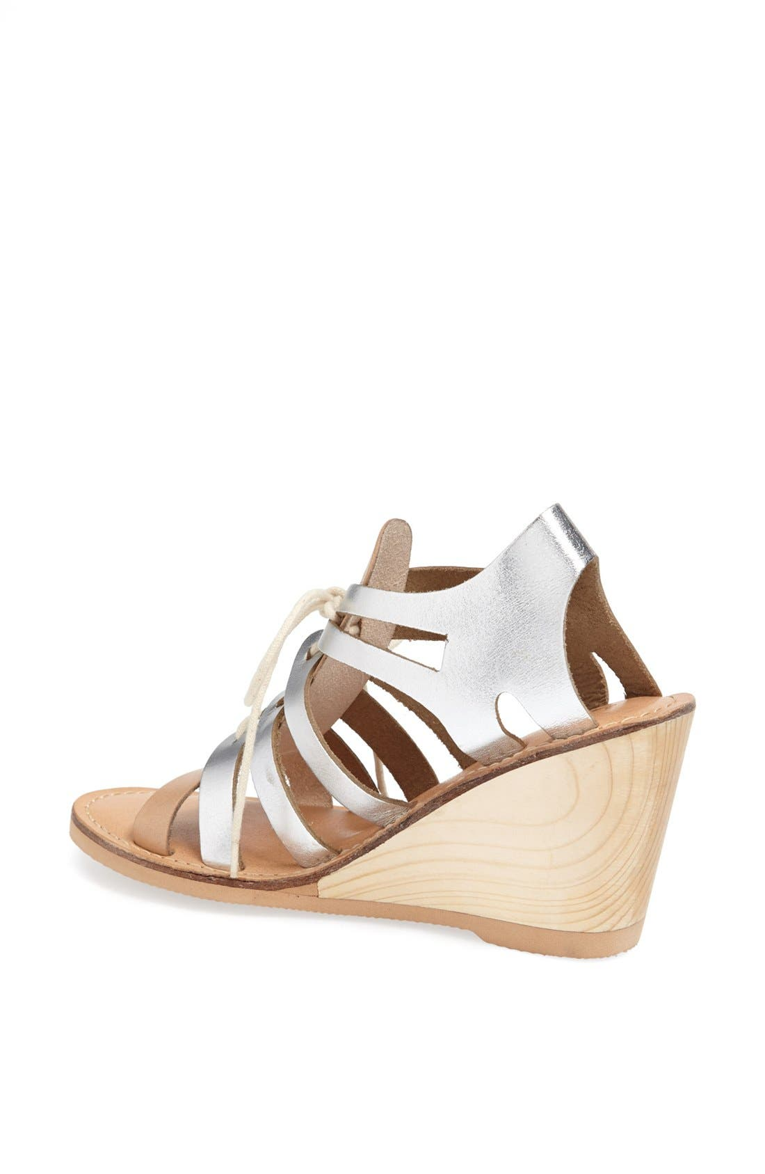 Alternate Image 2  - Matisse 'Begin' Metallic Leather Wedge Sandal