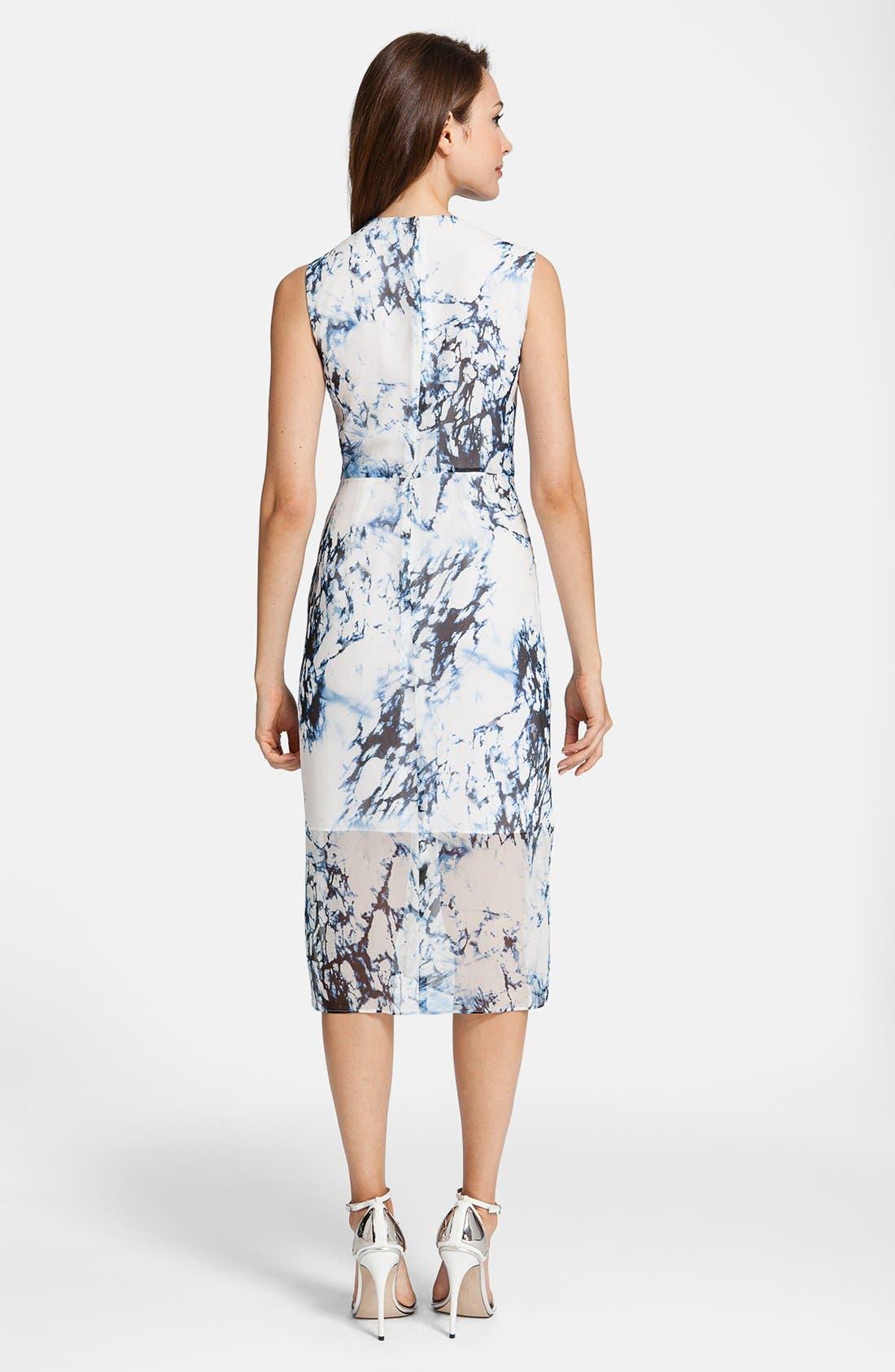 Alternate Image 2  - Cynthia Steffe 'Riva' Print Silk Dress