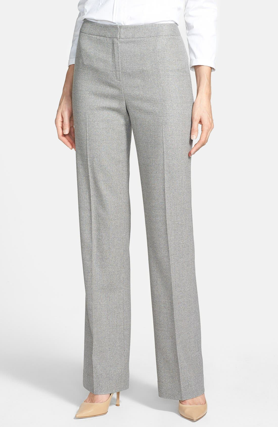 Main Image - Lafayette 148 New York Silk Blend Pants