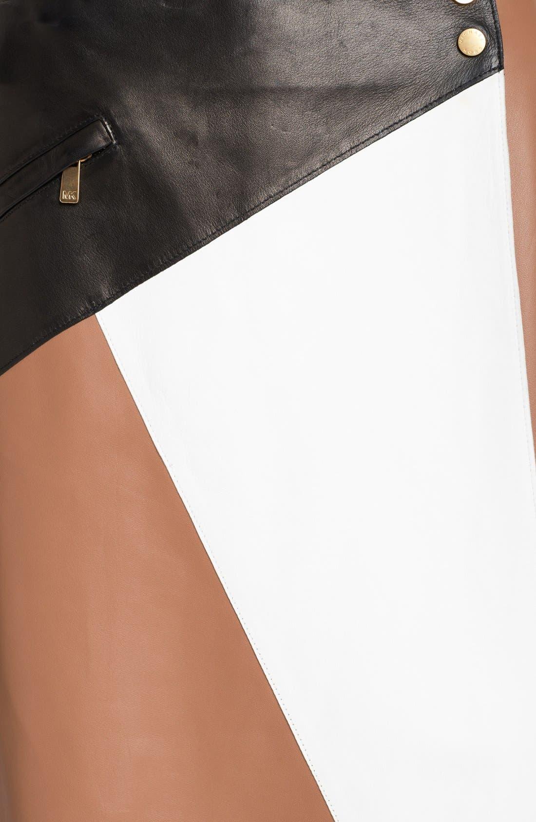 Alternate Image 3  - Michael Kors Colorblock Leather Wrap Skirt