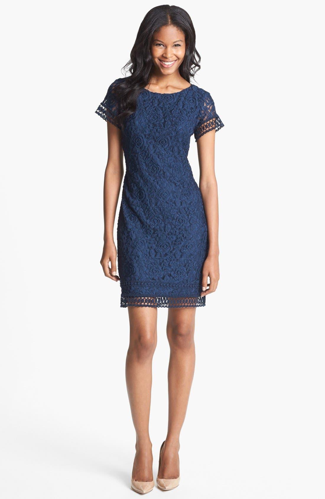 Alternate Image 1 Selected - Laundry by Shelli Segal Lace Sheath Dress