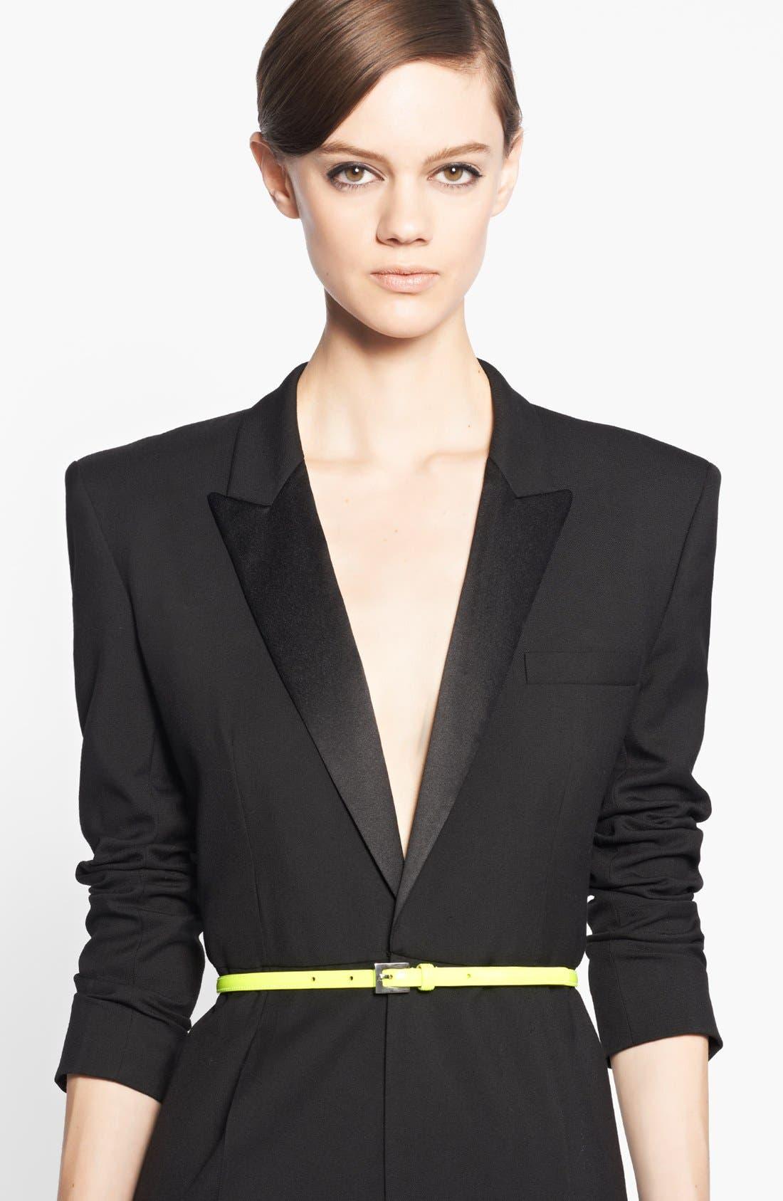 Main Image - Saint Laurent Leather Skinny Belt