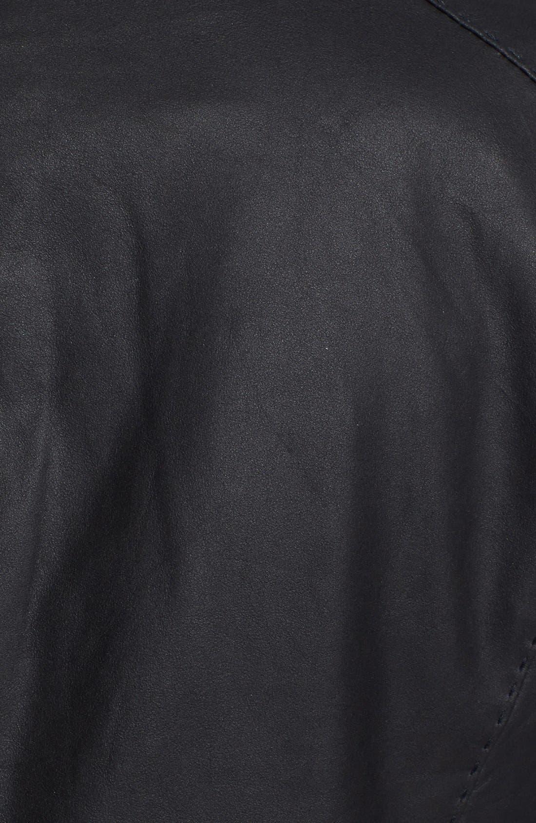 Alternate Image 3  - Vince Leather Scuba Jacket