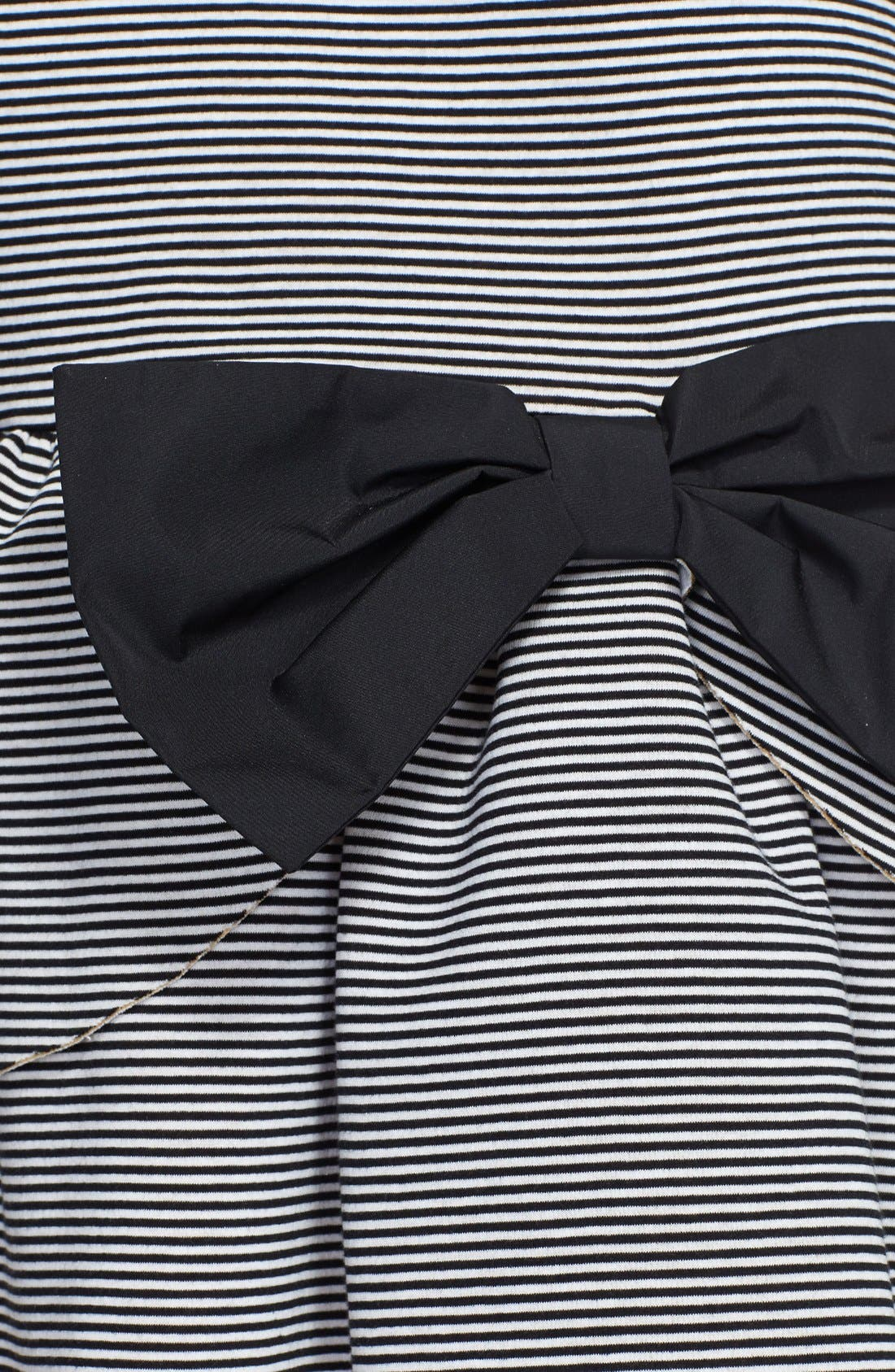 Alternate Image 3  - RED Valentino Neoprene Ruffled Stripe Dress