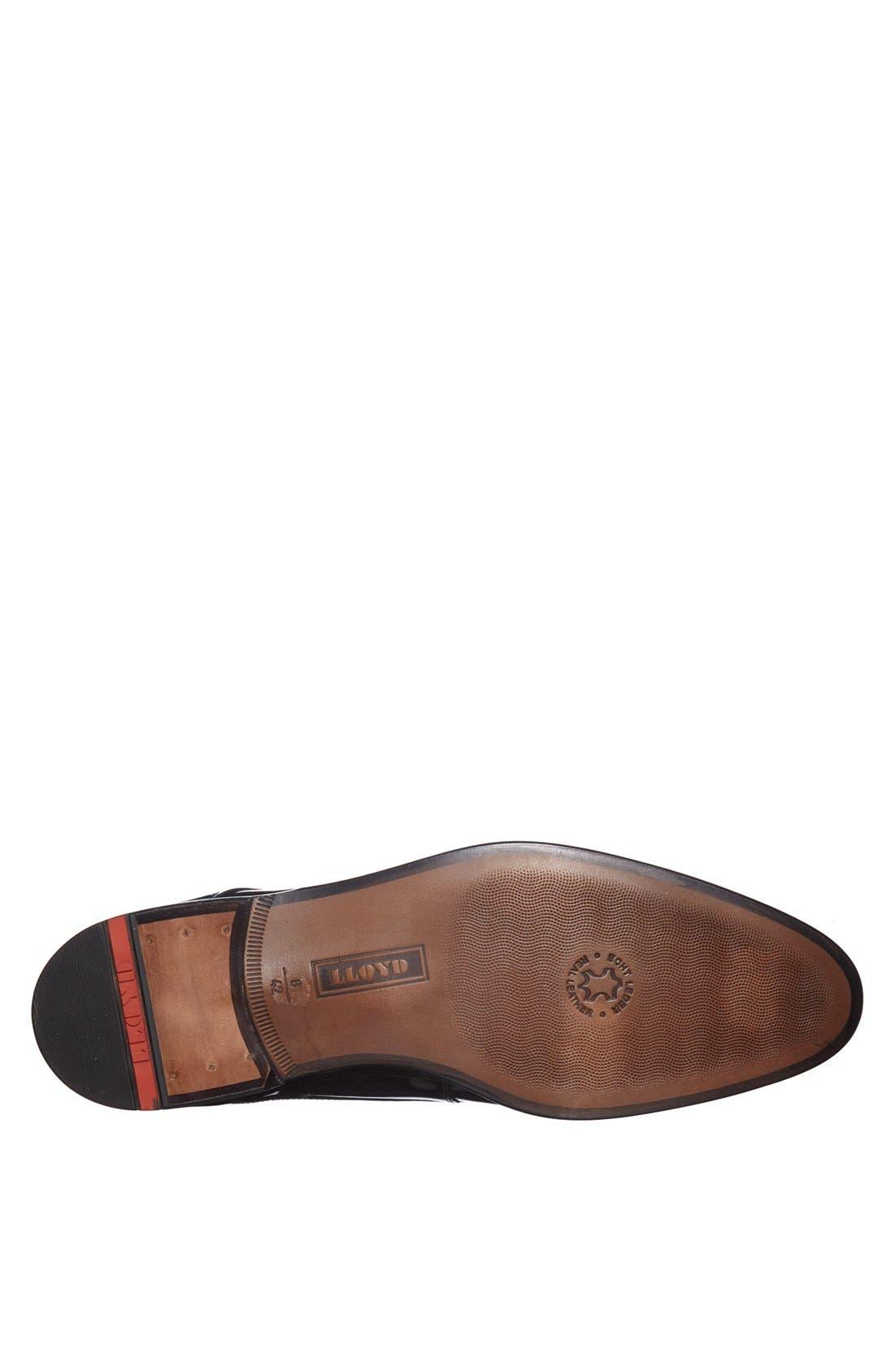 'Jerez' Plain Toe Derby,                             Alternate thumbnail 4, color,                             Black Patent