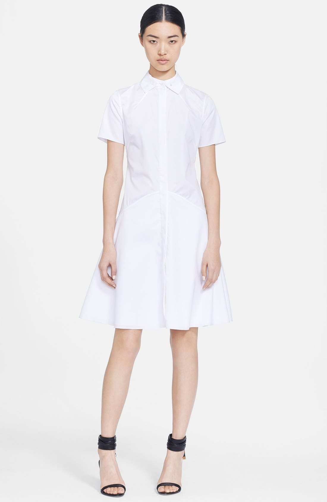 Alternate Image 1 Selected - Jason Wu Poplin Fit & Flare Shirtdress