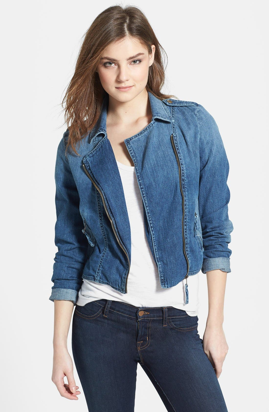 Alternate Image 1 Selected - Lucky Brand 'Addisyn' Moto Jacket