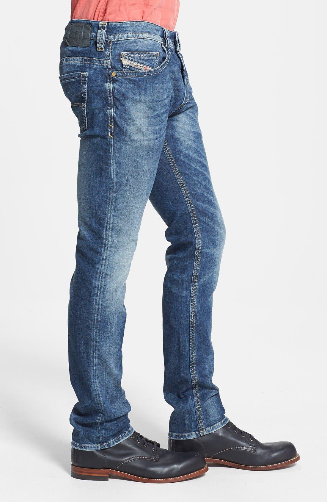 Alternate Image 3  - DIESEL® 'Thavar' Skinny Fit Jeans (827I)