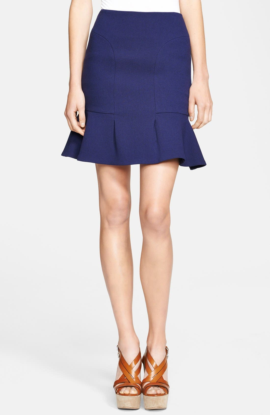 Alternate Image 1 Selected - Michael Kors Bouclé Stretch Wool Skirt