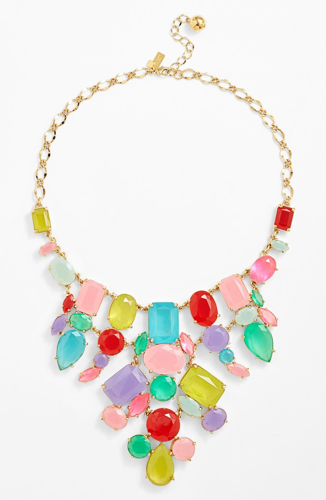 Alternate Image 1 Selected - kate spade new york 'gumdrop gems' mixed stone bib necklace